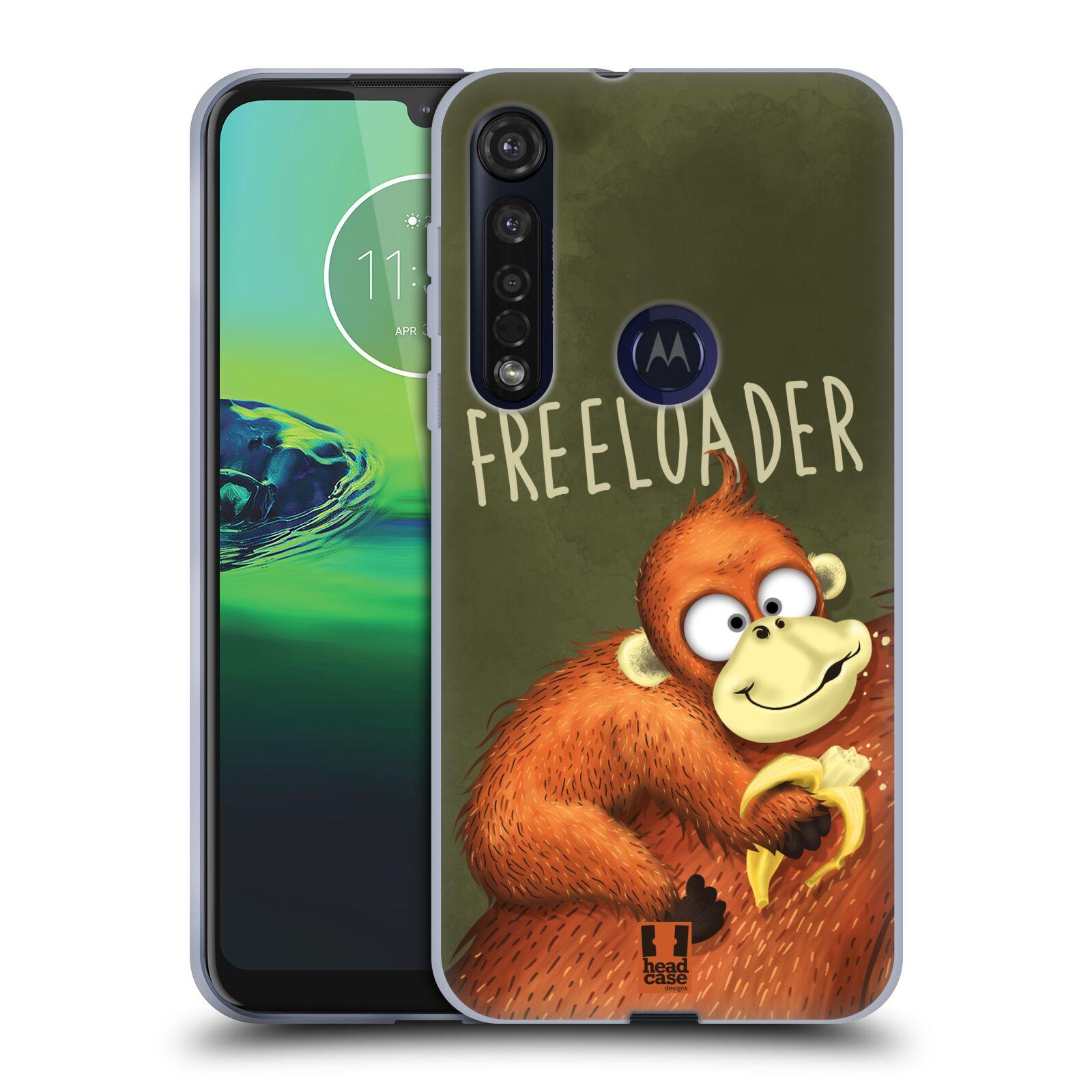 Silikonové pouzdro na mobil Motorola Moto G8 Plus - Head Case - Opičák Freeloader