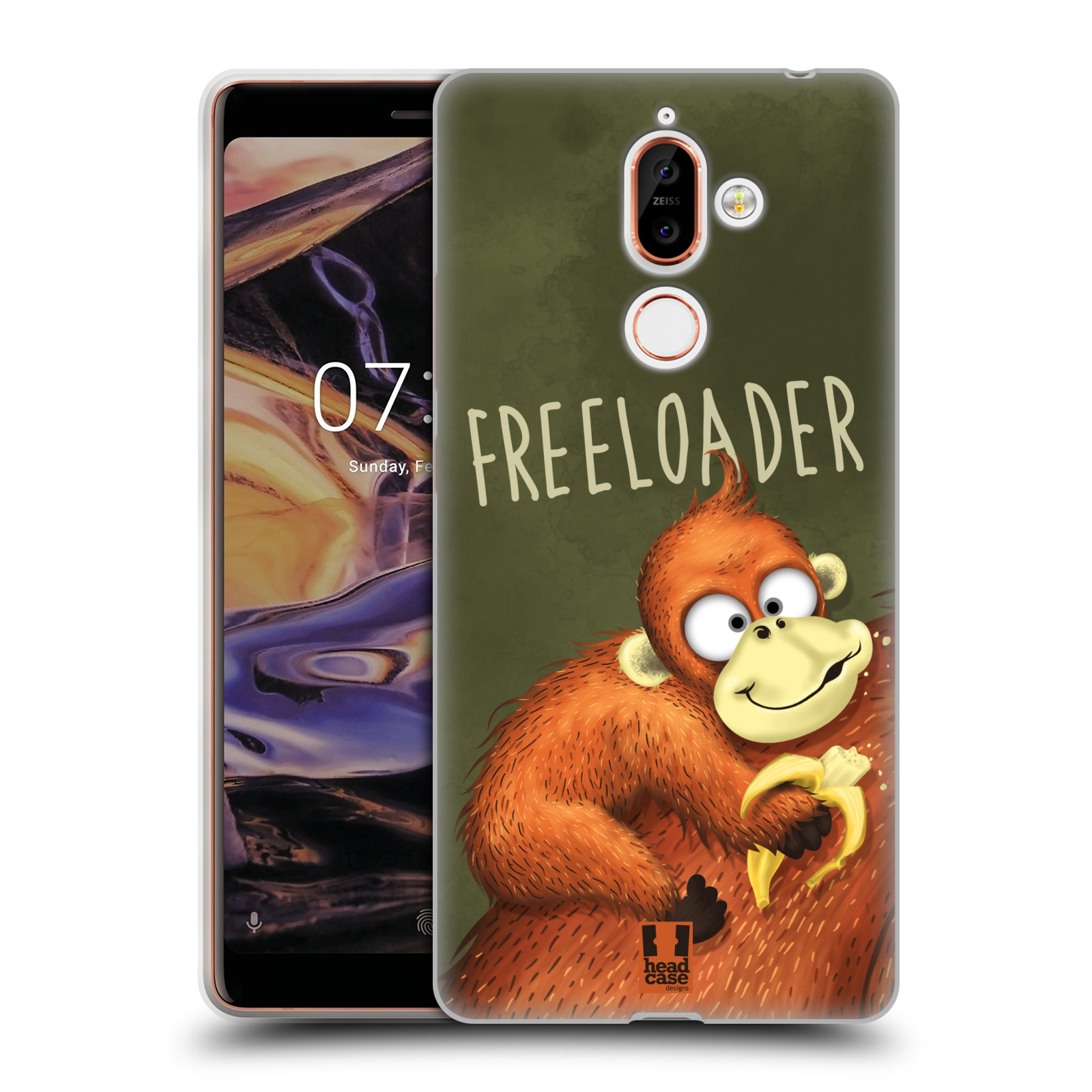 Silikonové pouzdro na mobil Nokia 7 Plus - Head Case - Opičák Freeloader