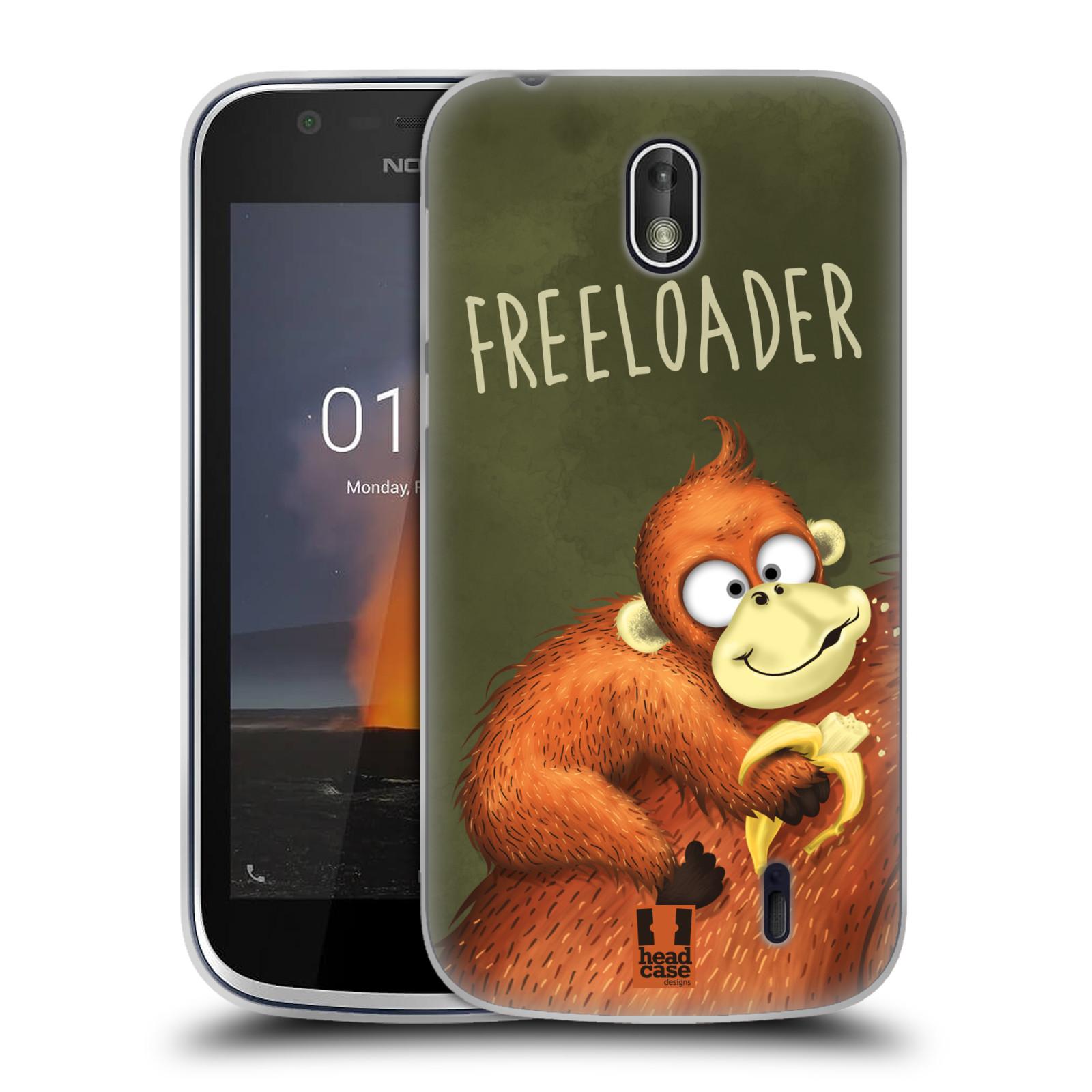 Silikonové pouzdro na mobil Nokia 1 - Head Case - Opičák Freeloader