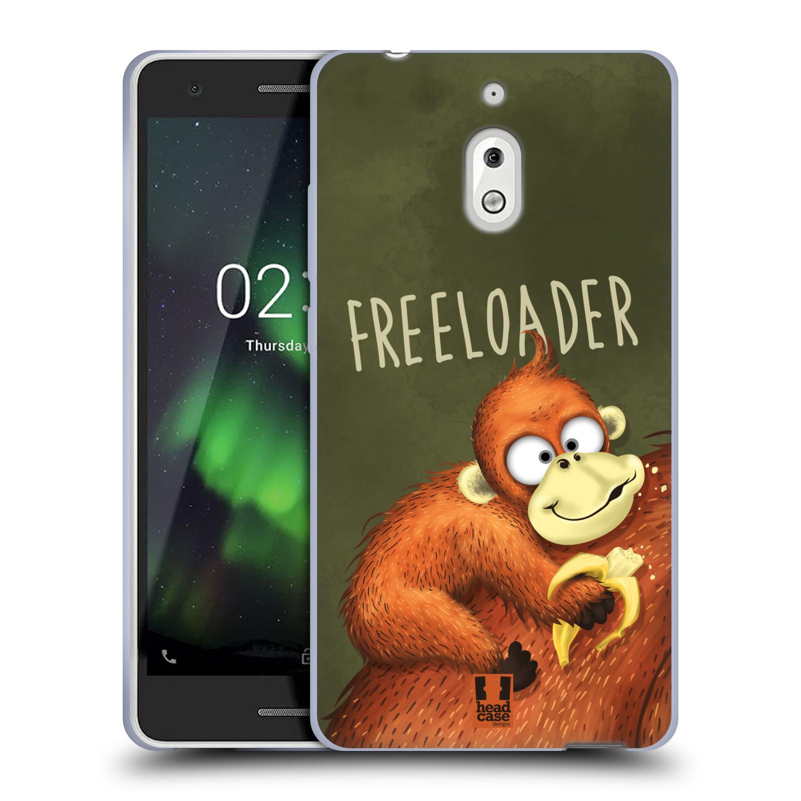 Silikonové pouzdro na mobil Nokia 2.1 - Head Case - Opičák Freeloader