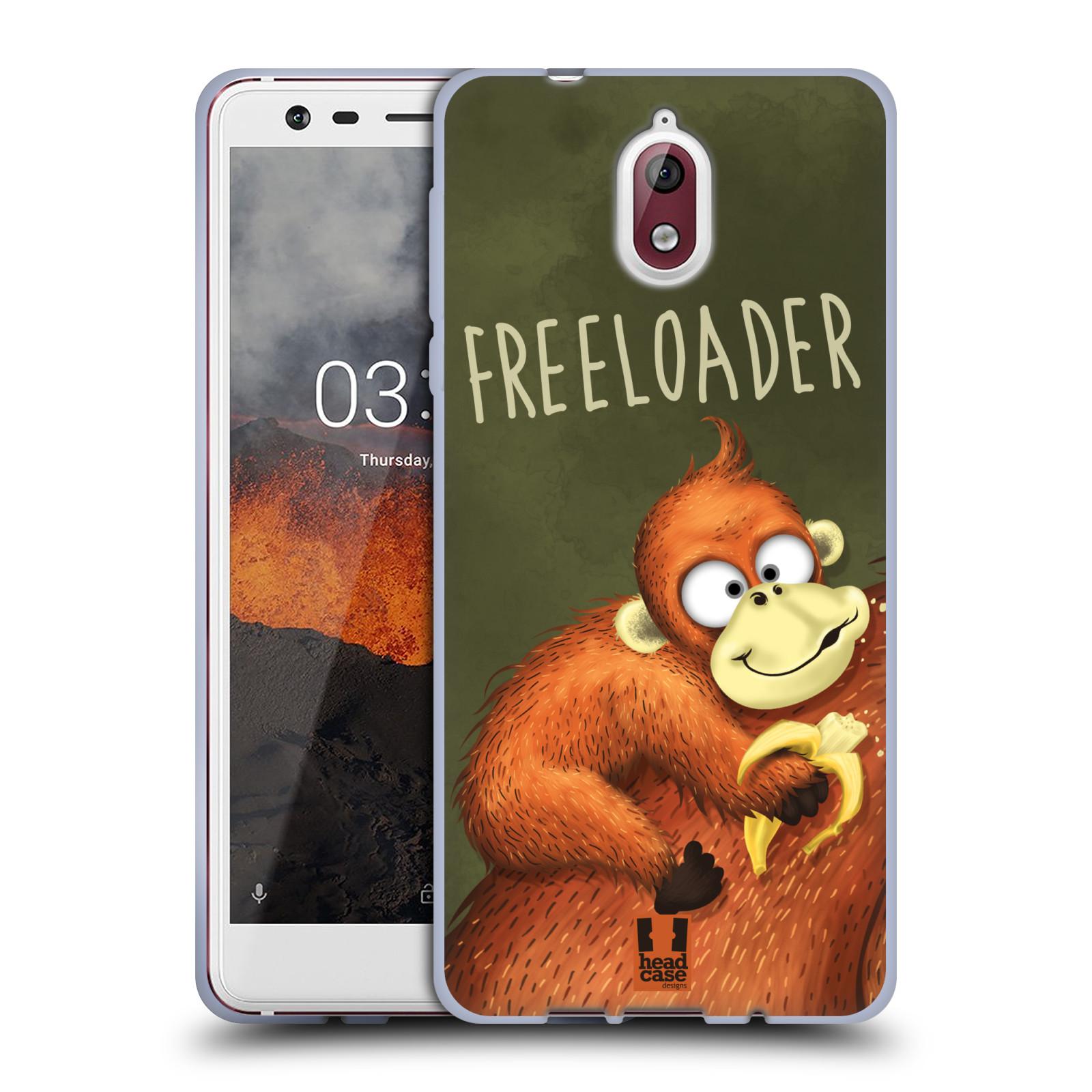 Silikonové pouzdro na mobil Nokia 3.1 - Head Case - Opičák Freeloader
