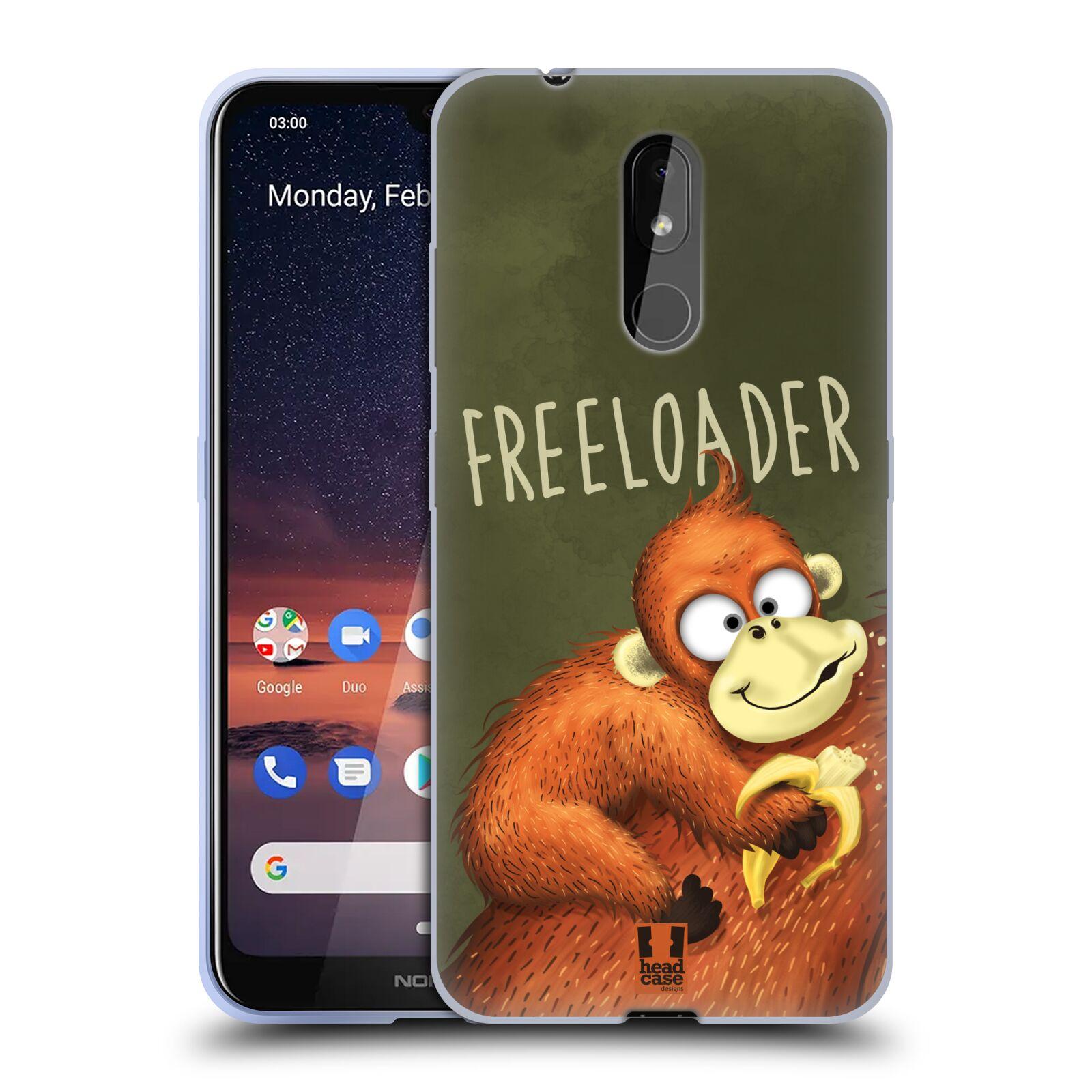 Silikonové pouzdro na mobil Nokia 3.2 - Head Case - Opičák Freeloader