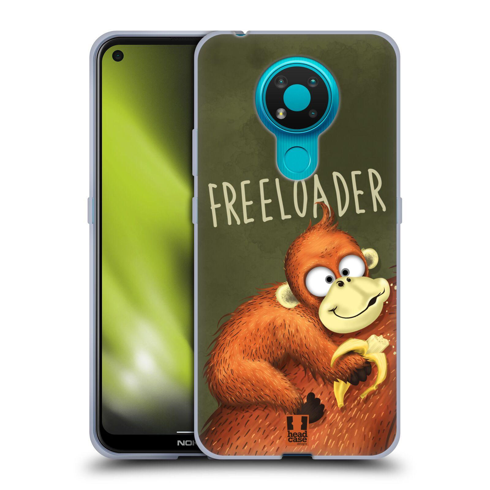 Silikonové pouzdro na mobil Nokia 3.4 - Head Case - Opičák Freeloader