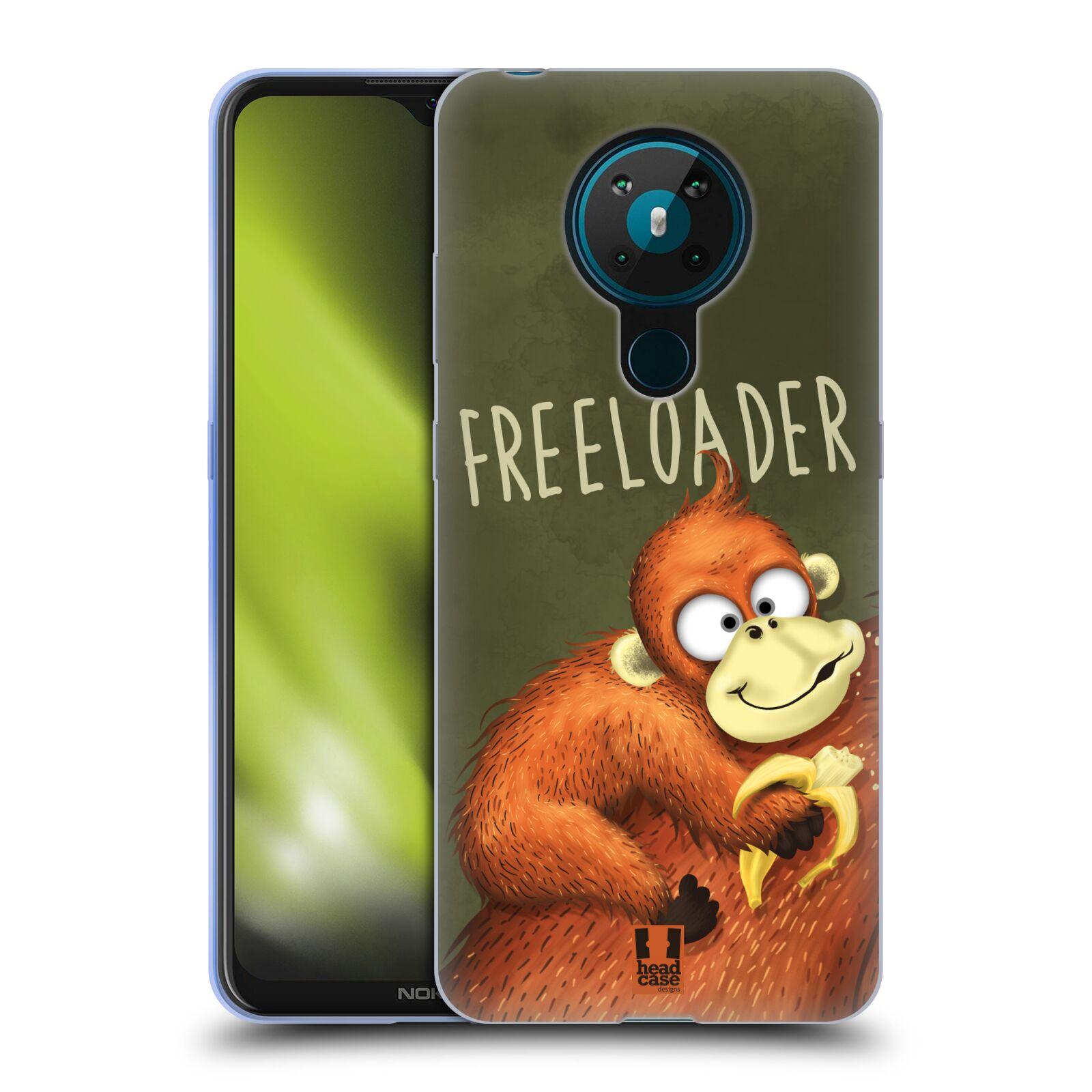 Silikonové pouzdro na mobil Nokia 5.3 - Head Case - Opičák Freeloader