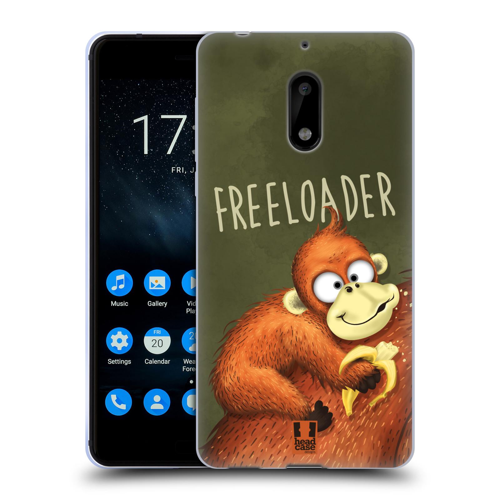 Silikonové pouzdro na mobil Nokia 6 - Head Case - Opičák Freeloader