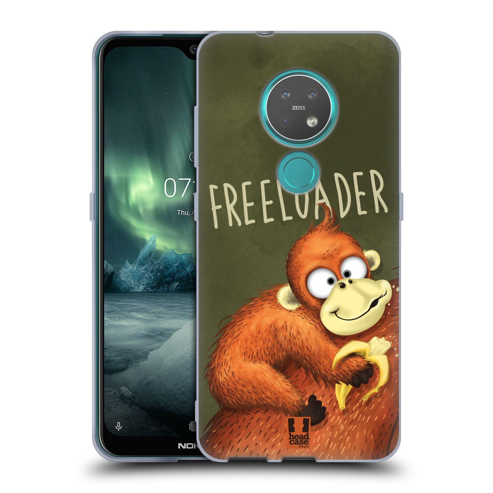 Silikonové pouzdro na mobil Nokia 6.2 - Head Case - Opičák Freeloader