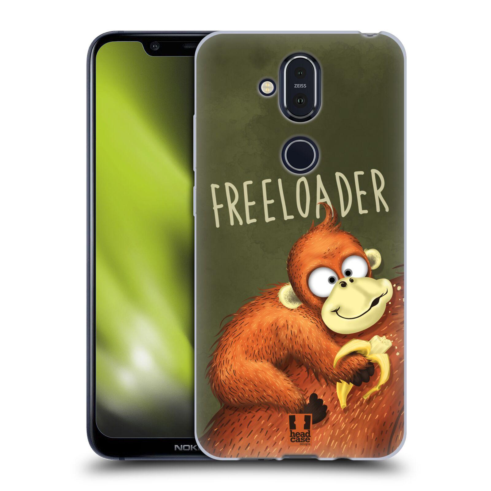 Silikonové pouzdro na mobil Nokia 8.1 - Head Case - Opičák Freeloader