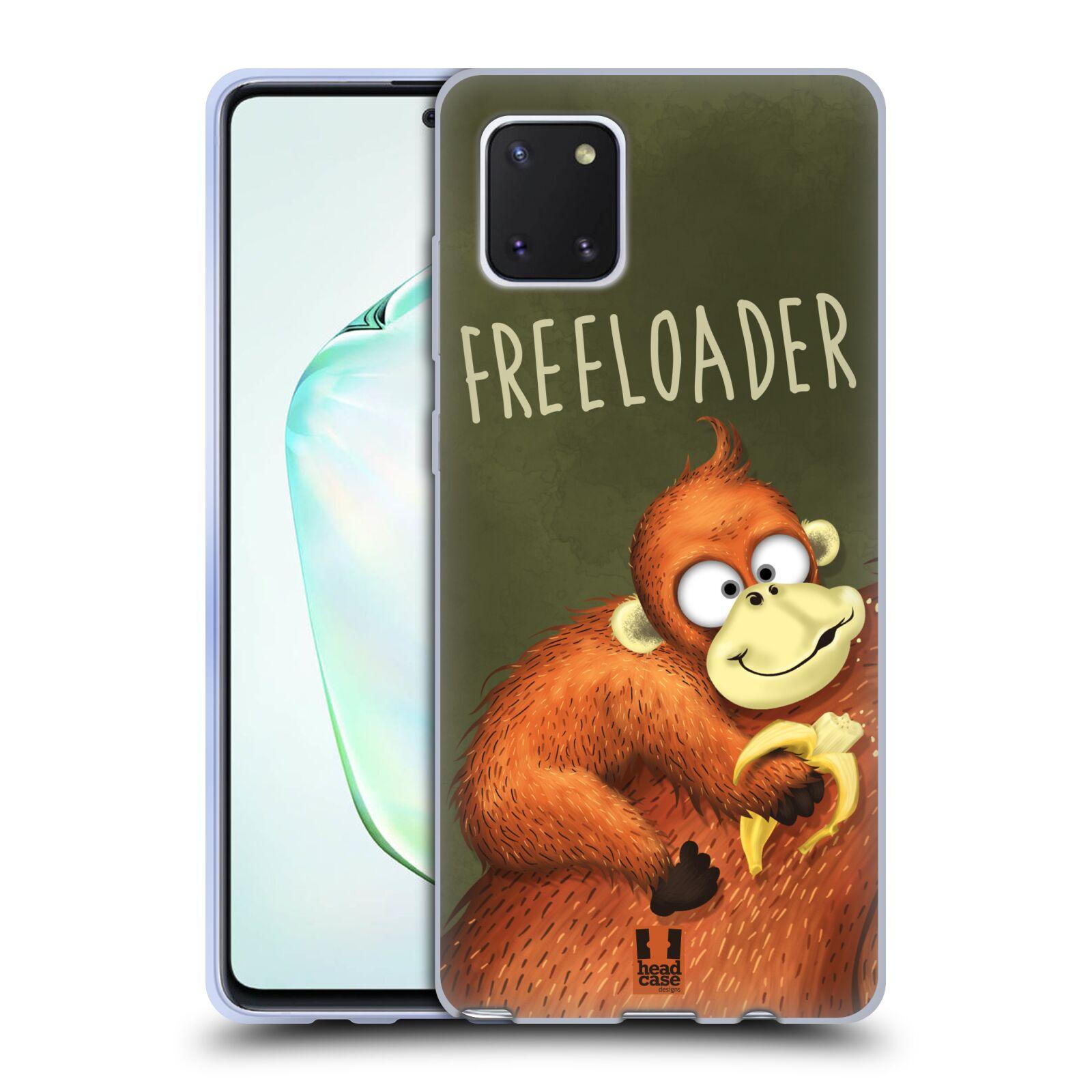 Silikonové pouzdro na mobil Samsung Galaxy Note 10 Lite - Head Case - Opičák Freeloader