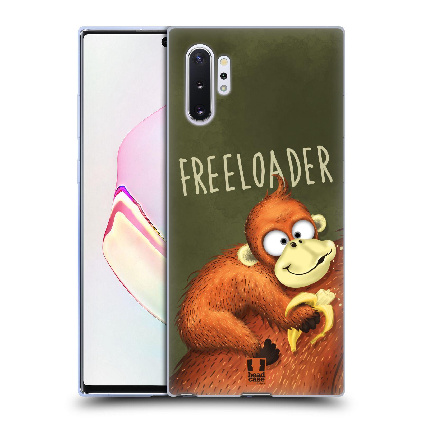 Silikonové pouzdro na mobil Samsung Galaxy Note 10 Plus - Head Case - Opičák Freeloader