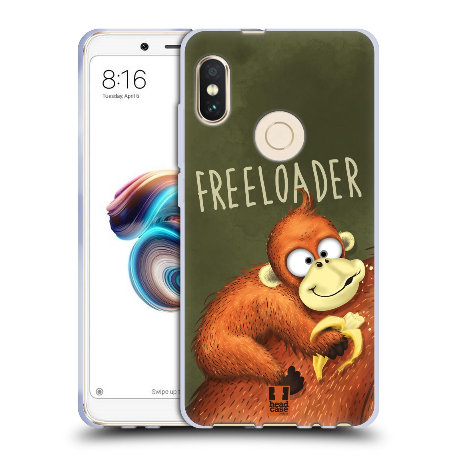 Silikonové pouzdro na mobil Xiaomi Redmi Note 5 - Head Case - Opičák Freeloader