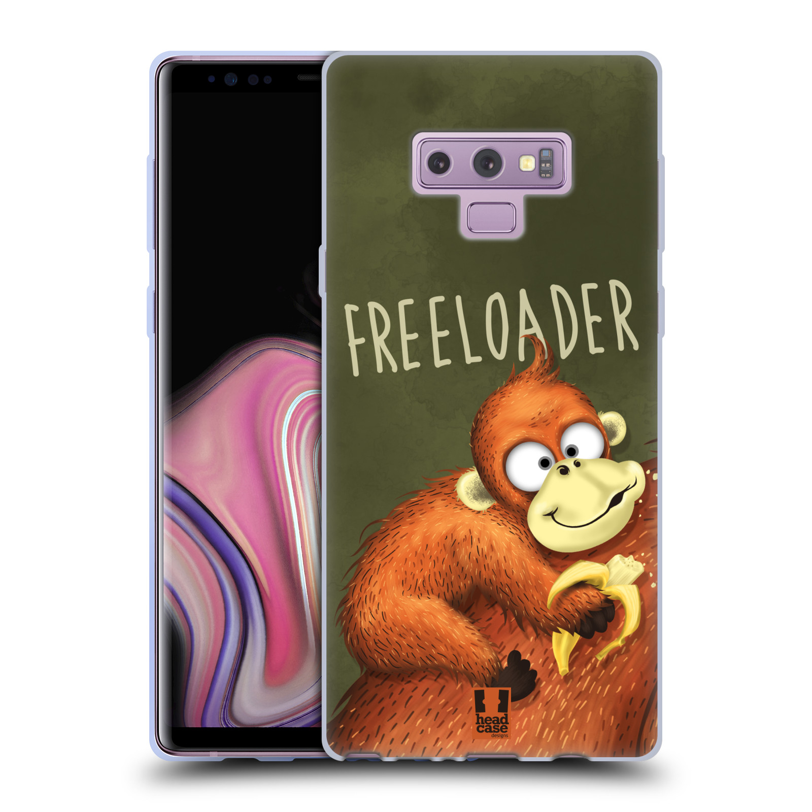 Silikonové pouzdro na mobil Samsung Galaxy Note 9 - Head Case - Opičák Freeloader