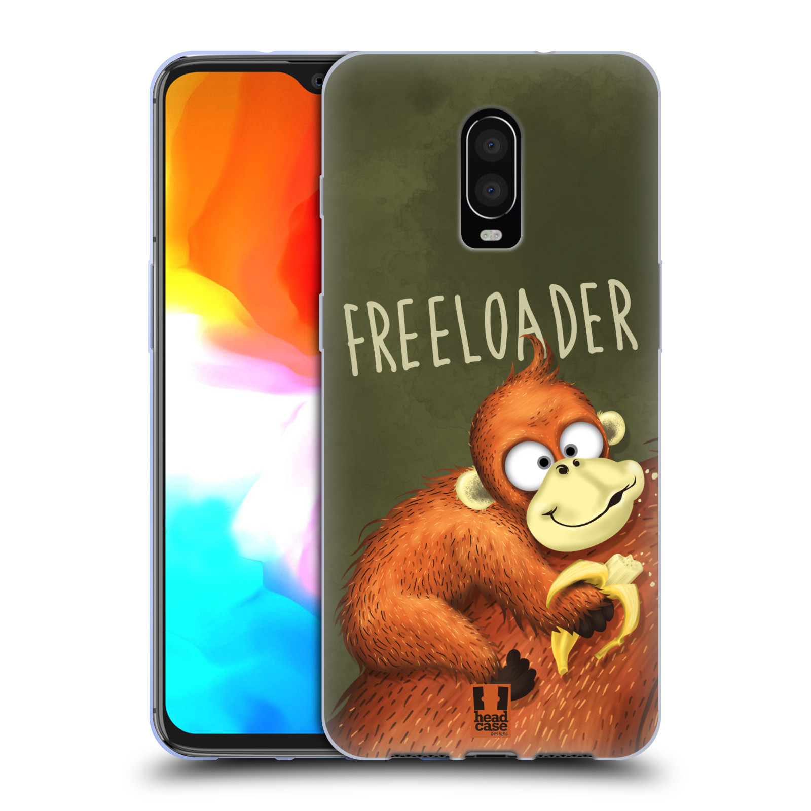 Silikonové pouzdro na mobil OnePlus 6T - Head Case - Opičák Freeloader