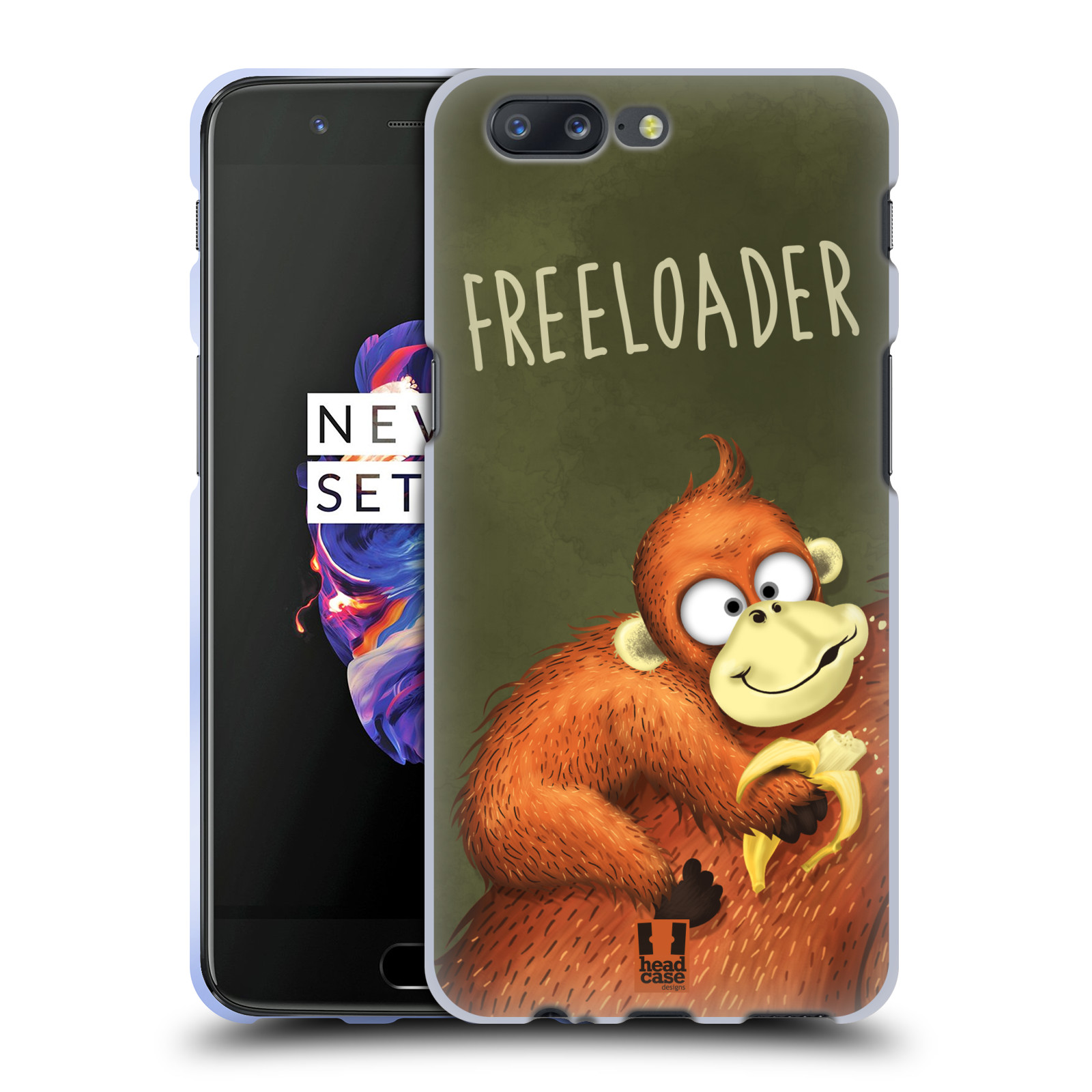 Silikonové pouzdro na mobil OnePlus 5 - Head Case - Opičák Freeloader