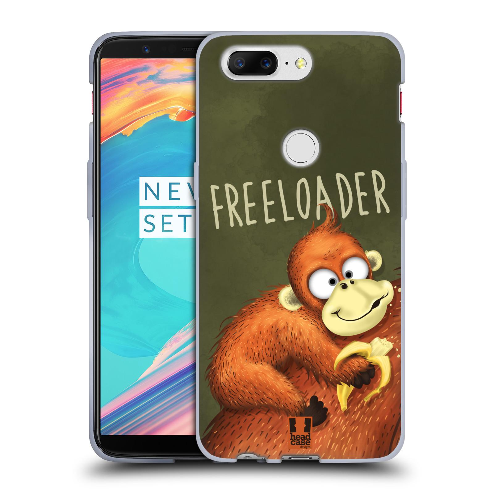 Silikonové pouzdro na mobil OnePlus 5T - Head Case - Opičák Freeloader