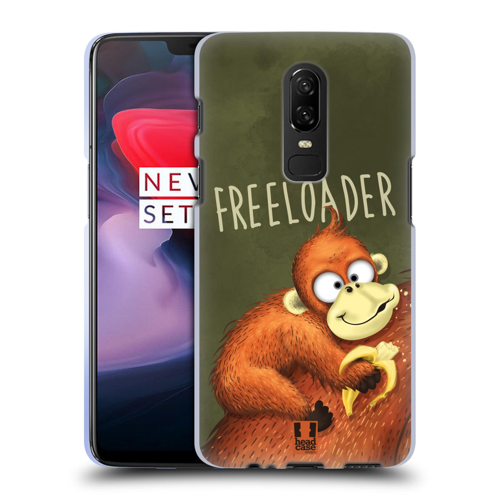 Silikonové pouzdro na mobil OnePlus 6 - Head Case - Opičák Freeloader
