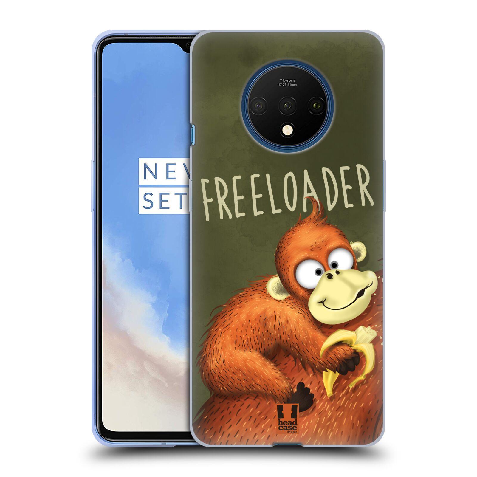 Silikonové pouzdro na mobil OnePlus 7T - Head Case - Opičák Freeloader