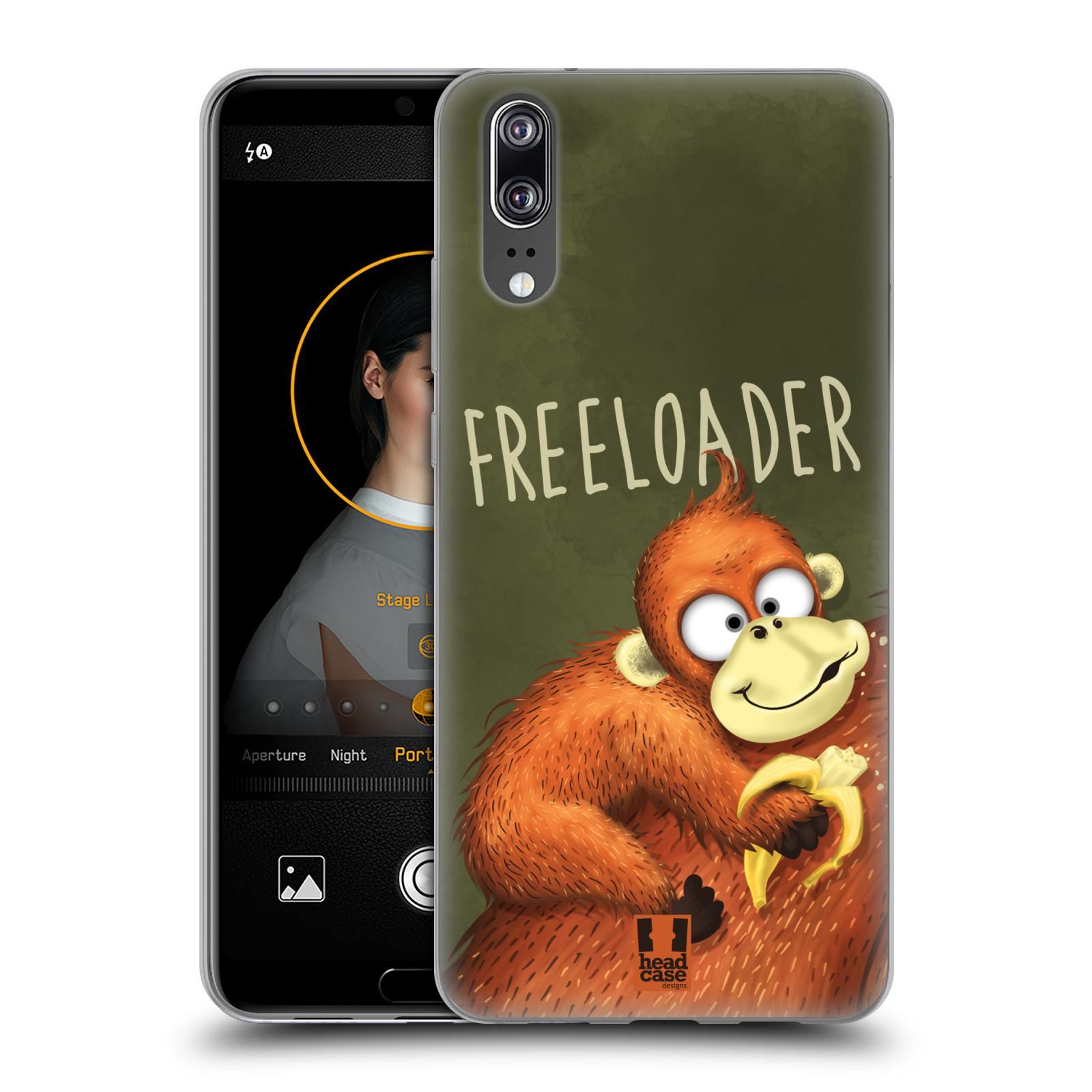 Silikonové pouzdro na mobil Huawei P20 - Head Case - Opičák Freeloader