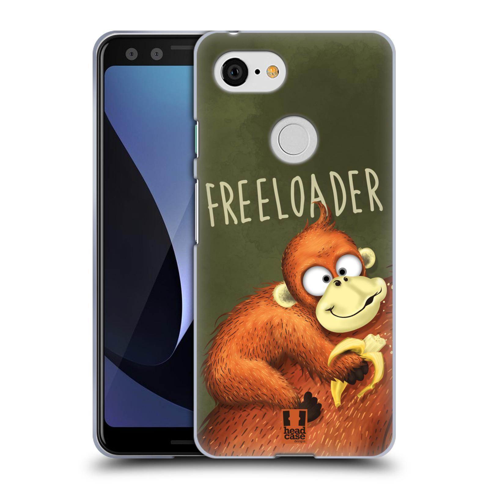 Silikonové pouzdro na mobil Google Pixel 3 - Head Case - Opičák Freeloader