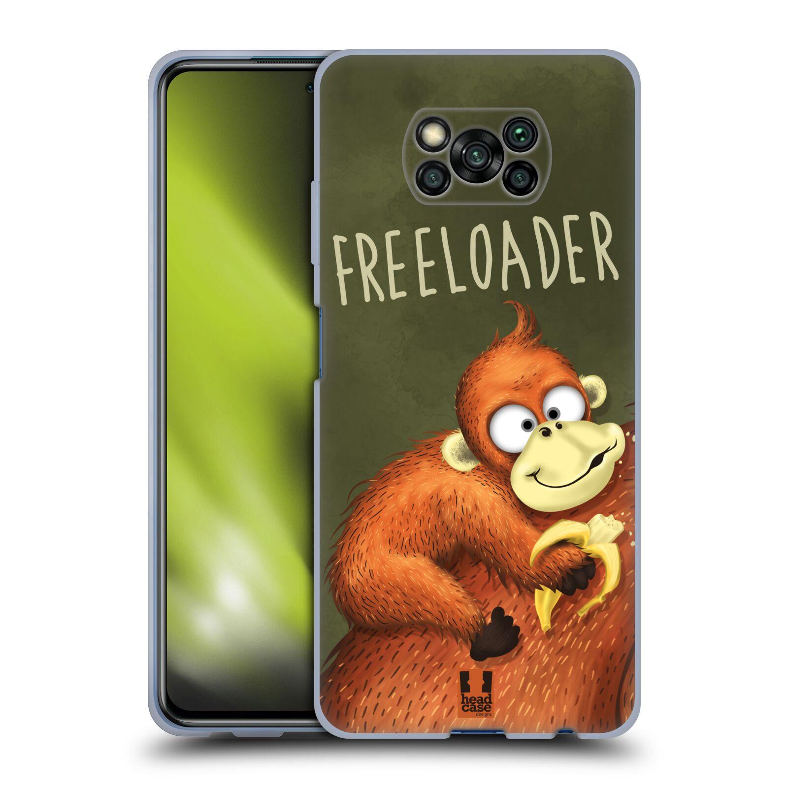 Silikonové pouzdro na mobil Xiaomi Poco X3 NFC - Head Case - Opičák Freeloader