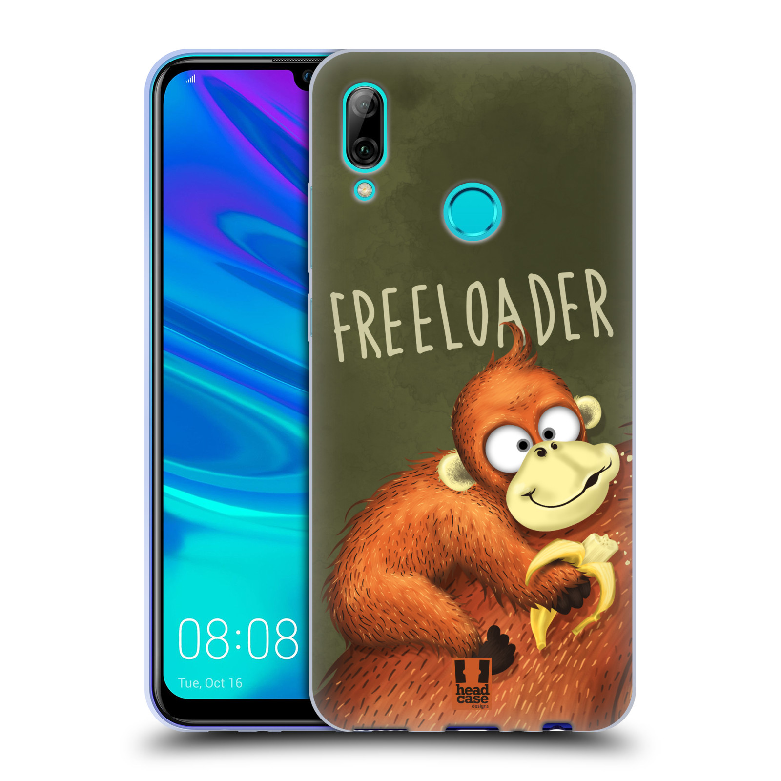 Silikonové pouzdro na mobil Huawei P Smart (2019) - Head Case - Opičák Freeloader