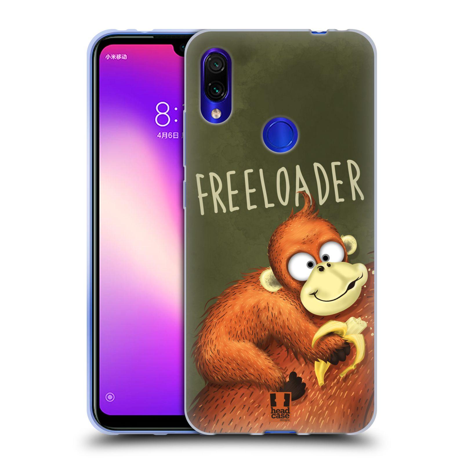 Silikonové pouzdro na mobil Xiaomi Redmi Note 7 - Head Case - Opičák Freeloader