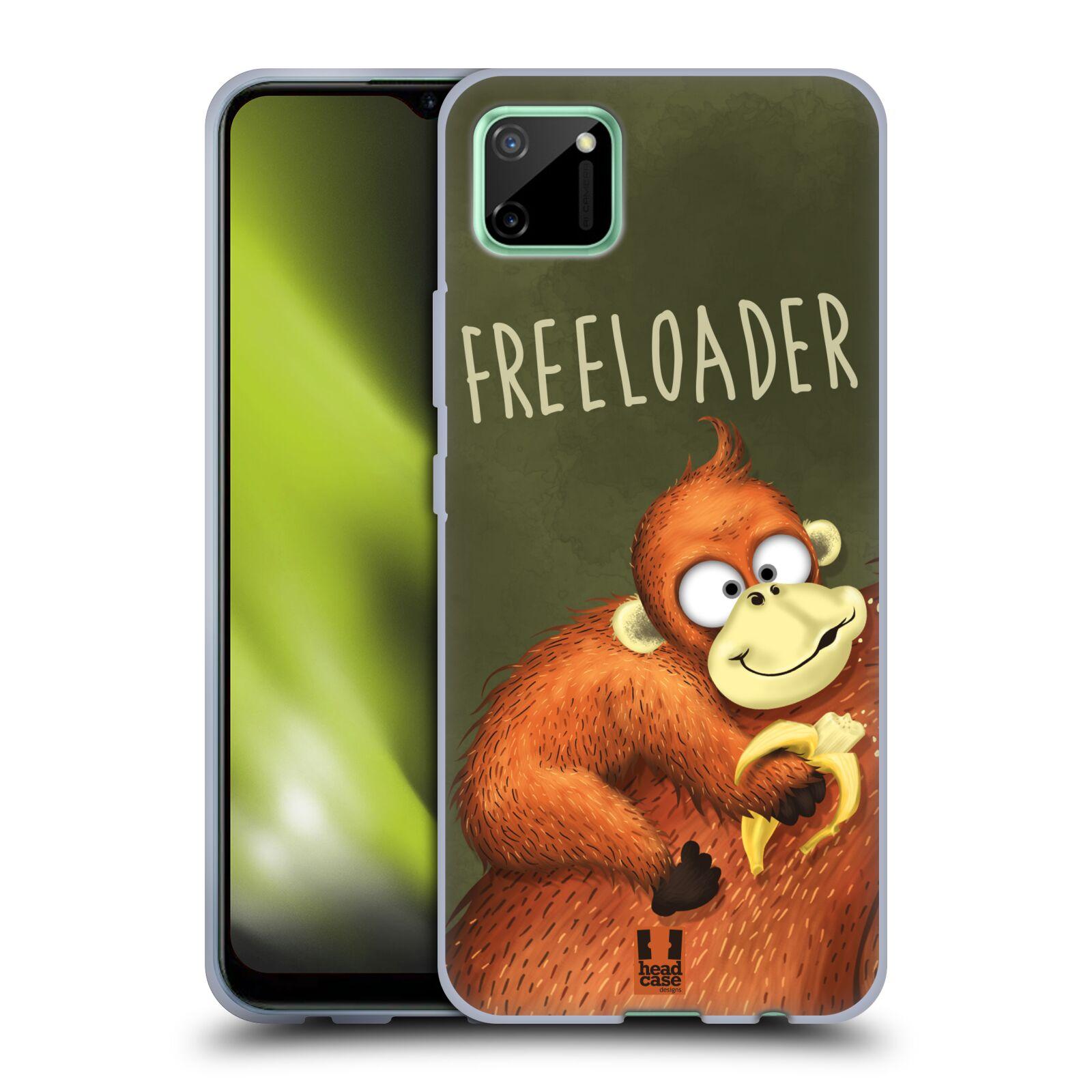 Silikonové pouzdro na mobil Realme C11 - Head Case - Opičák Freeloader