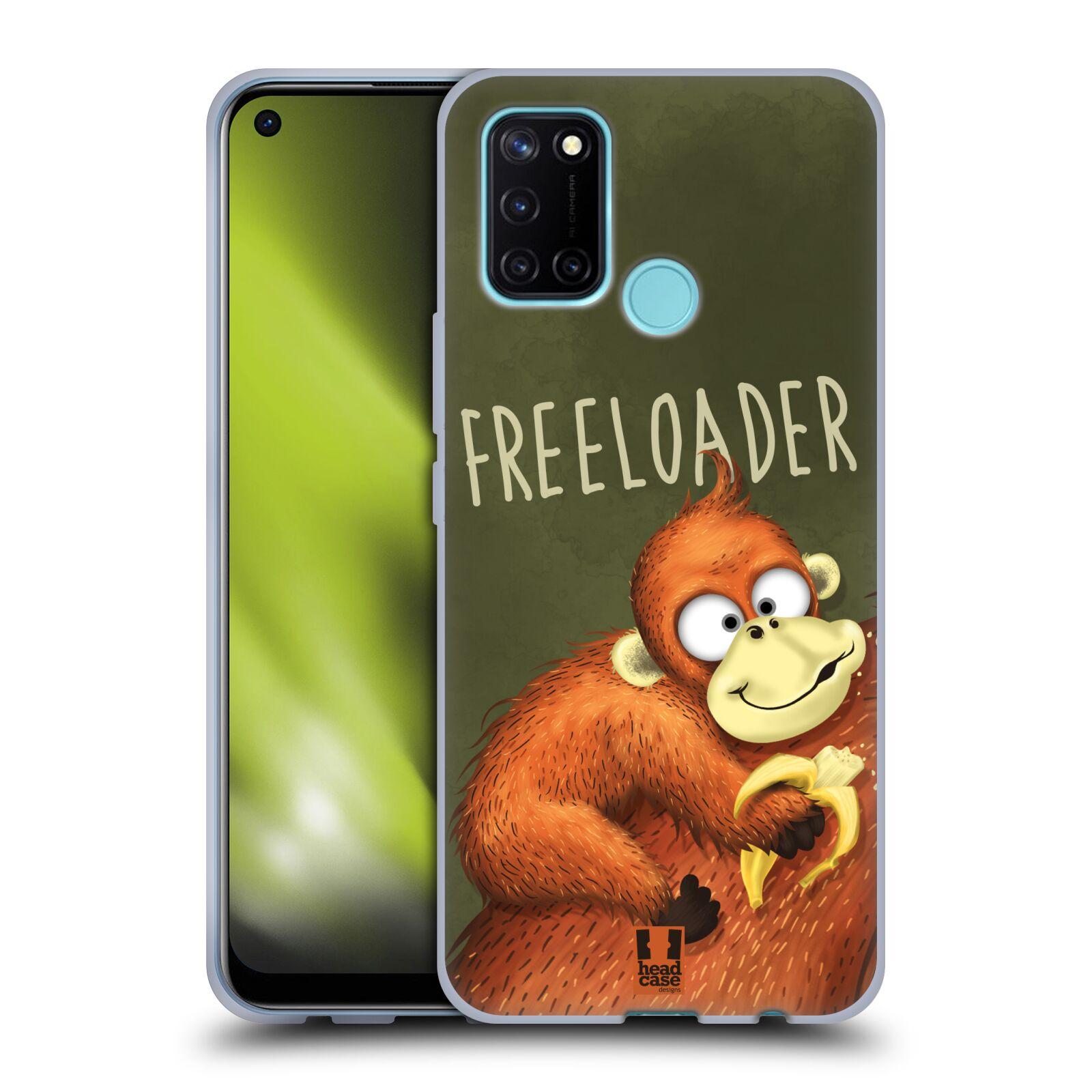 Silikonové pouzdro na mobil Realme 7i - Head Case - Opičák Freeloader