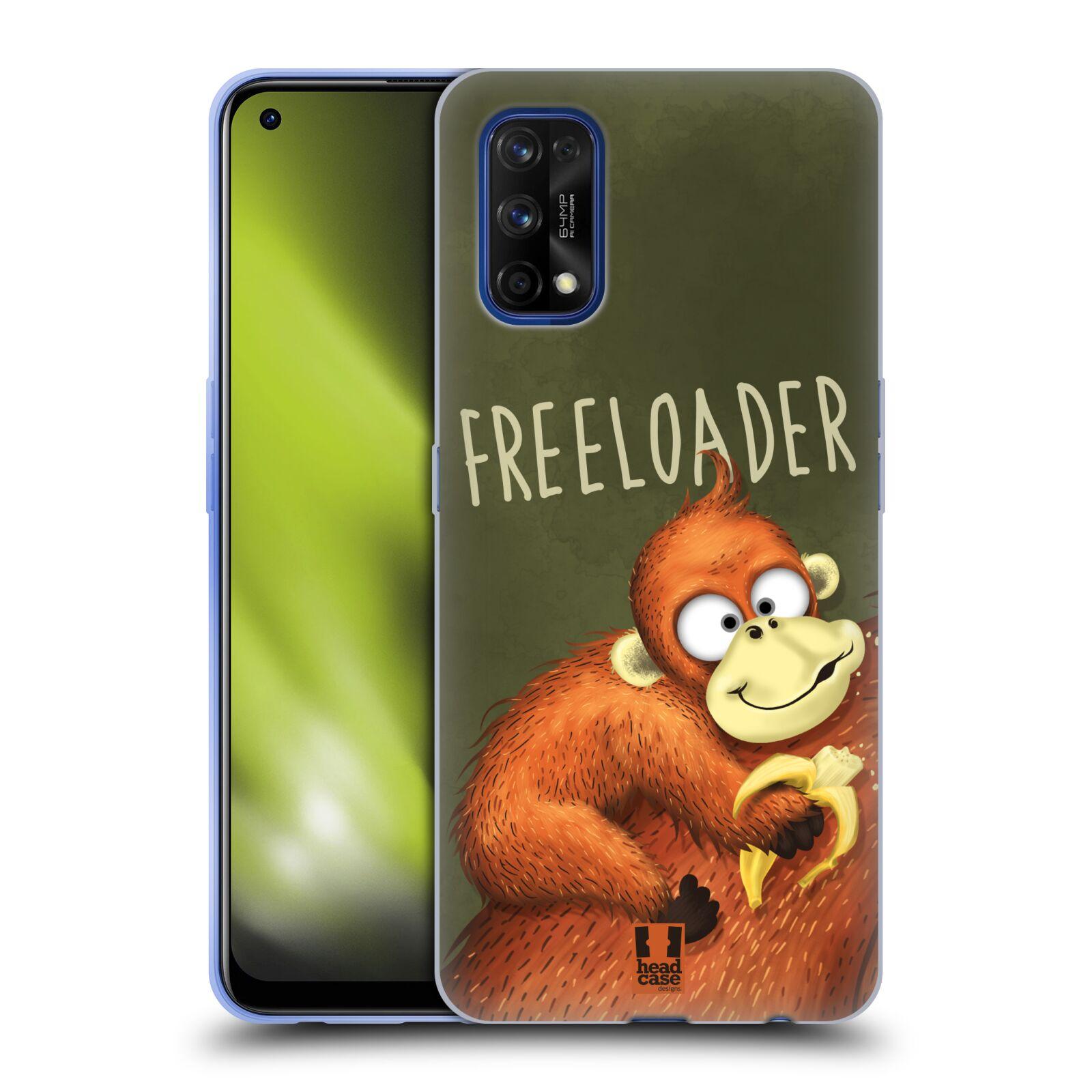 Silikonové pouzdro na mobil Realme 7 Pro - Head Case - Opičák Freeloader