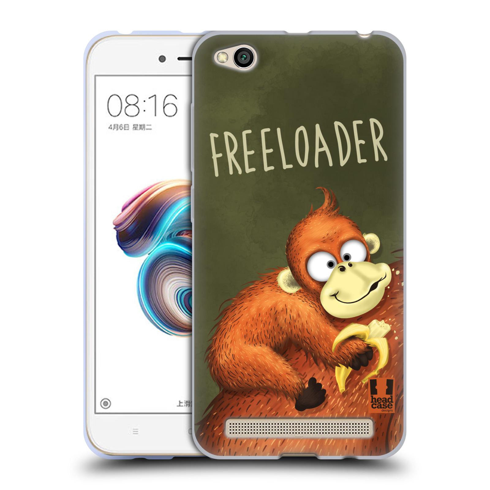 Silikonové pouzdro na mobil Xiaomi Redmi 5A - Head Case - Opičák Freeloader