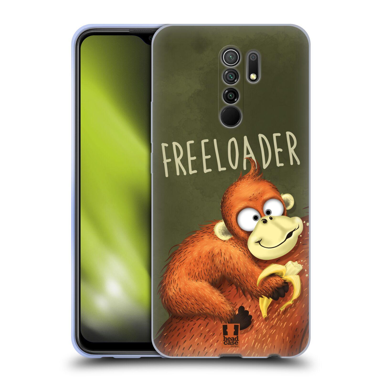 Silikonové pouzdro na mobil Xiaomi Redmi 9 - Head Case - Opičák Freeloader