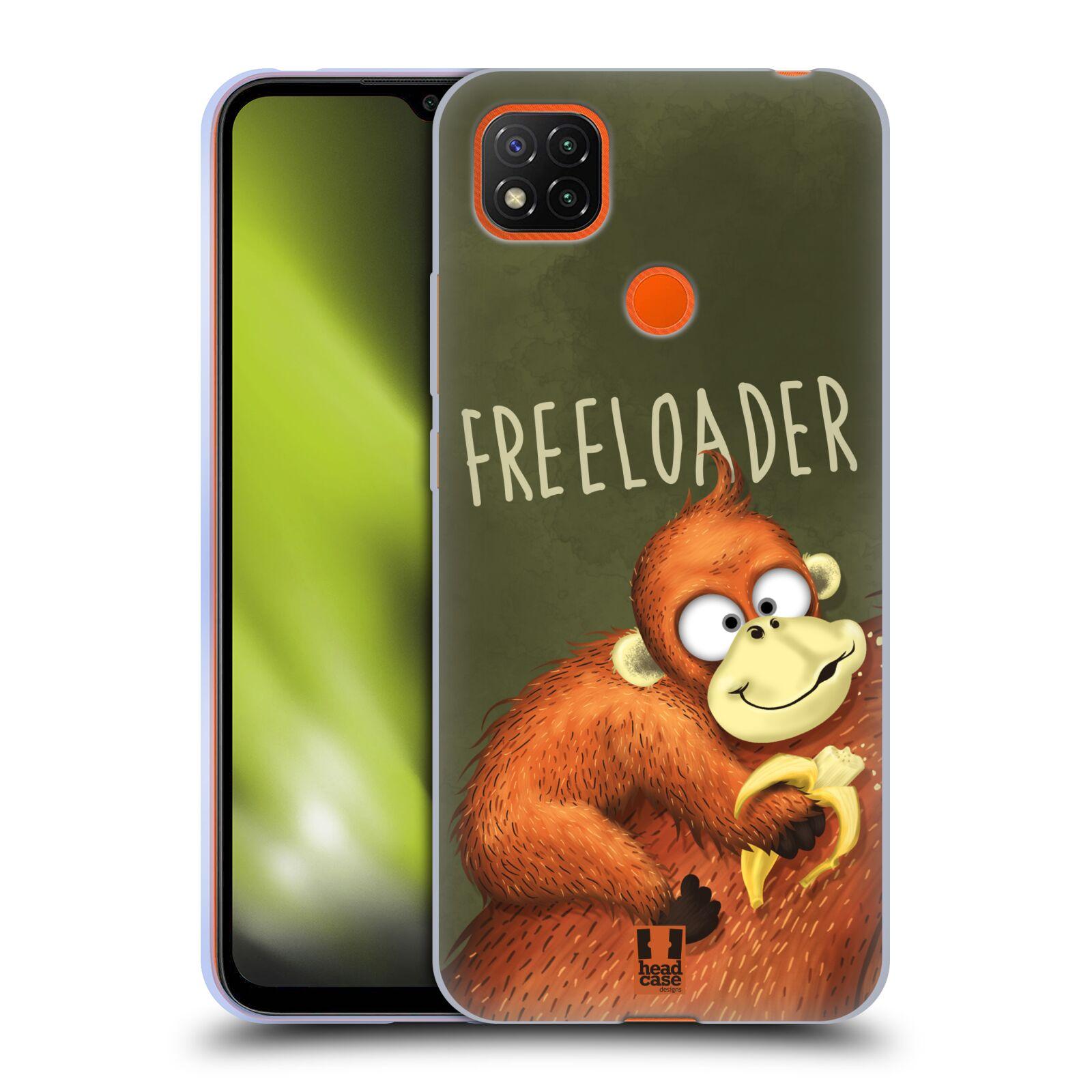 Silikonové pouzdro na mobil Xiaomi Redmi 9C - Head Case - Opičák Freeloader