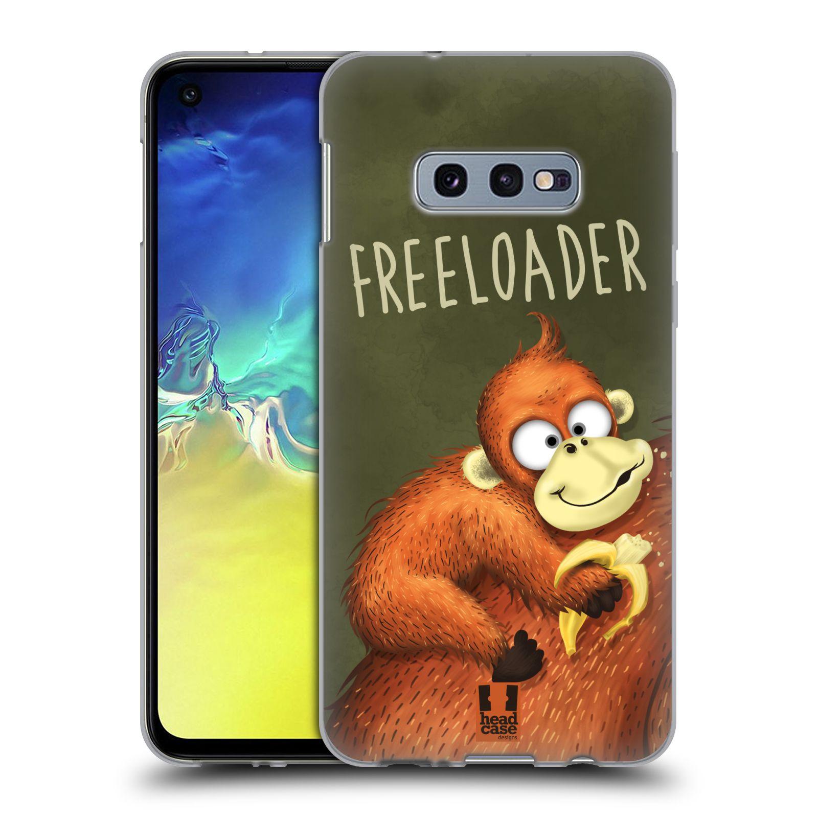 Silikonové pouzdro na mobil Samsung Galaxy S10e - Head Case - Opičák Freeloader