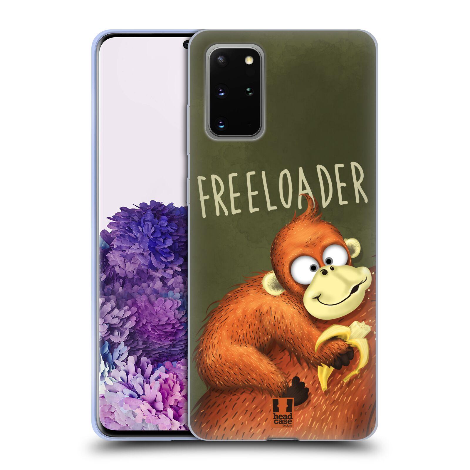Silikonové pouzdro na mobil Samsung Galaxy S20 Plus - Head Case - Opičák Freeloader