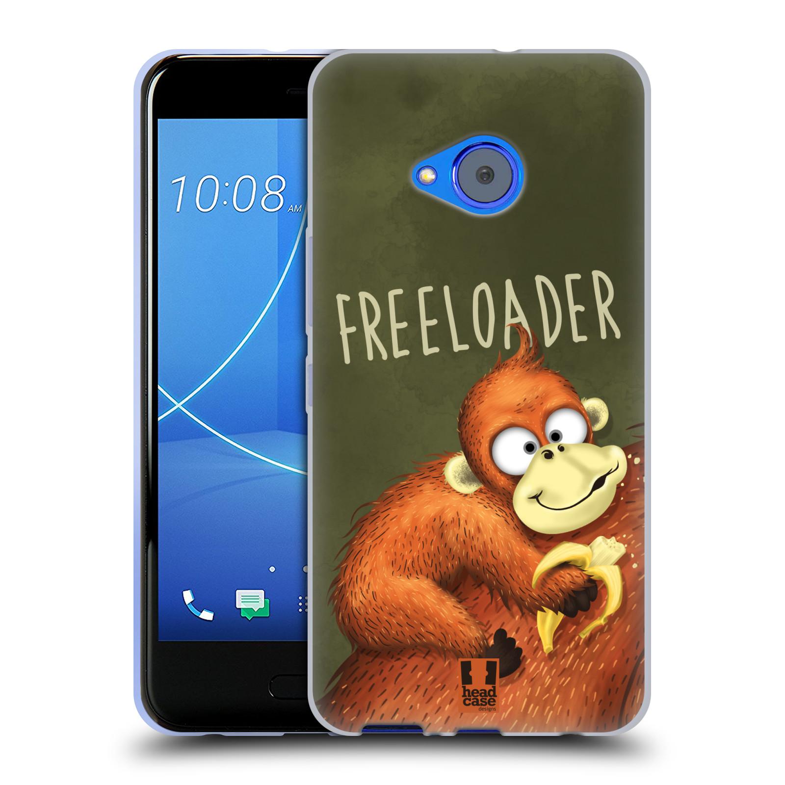 Silikonové pouzdro na mobil HTC U11 Life - Head Case - Opičák Freeloader