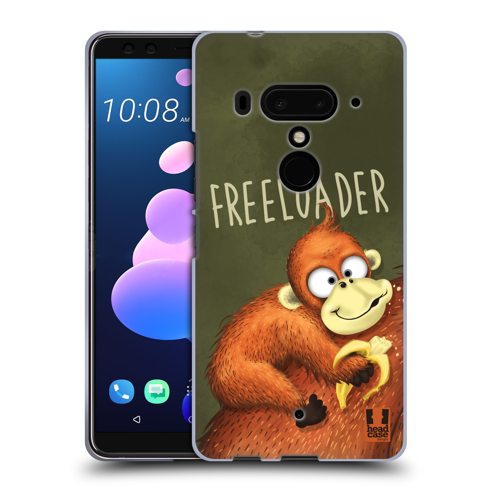 Silikonové pouzdro na mobil HTC U12 Plus - Head Case - Opičák Freeloader