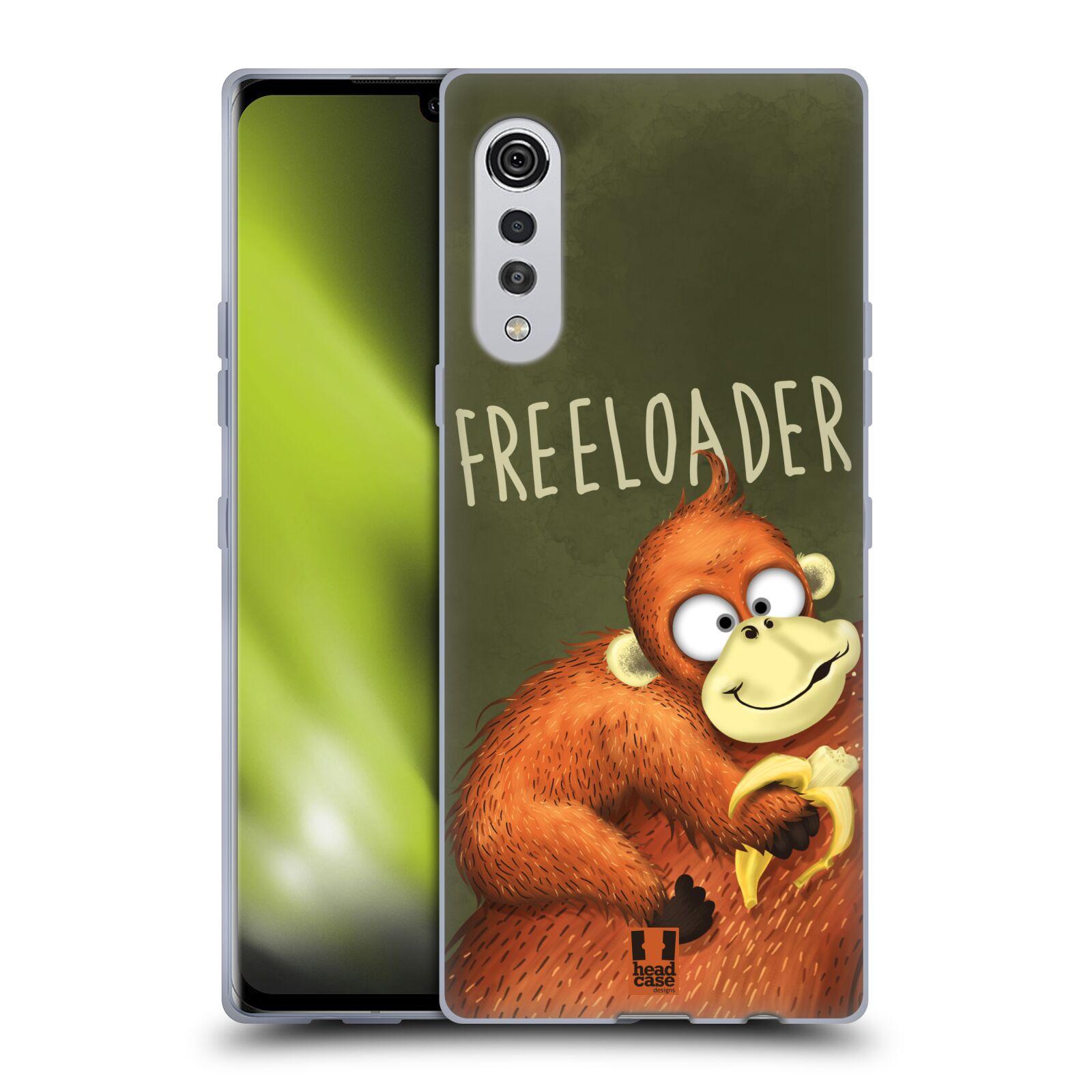 Silikonové pouzdro na mobil LG Velvet - Head Case - Opičák Freeloader