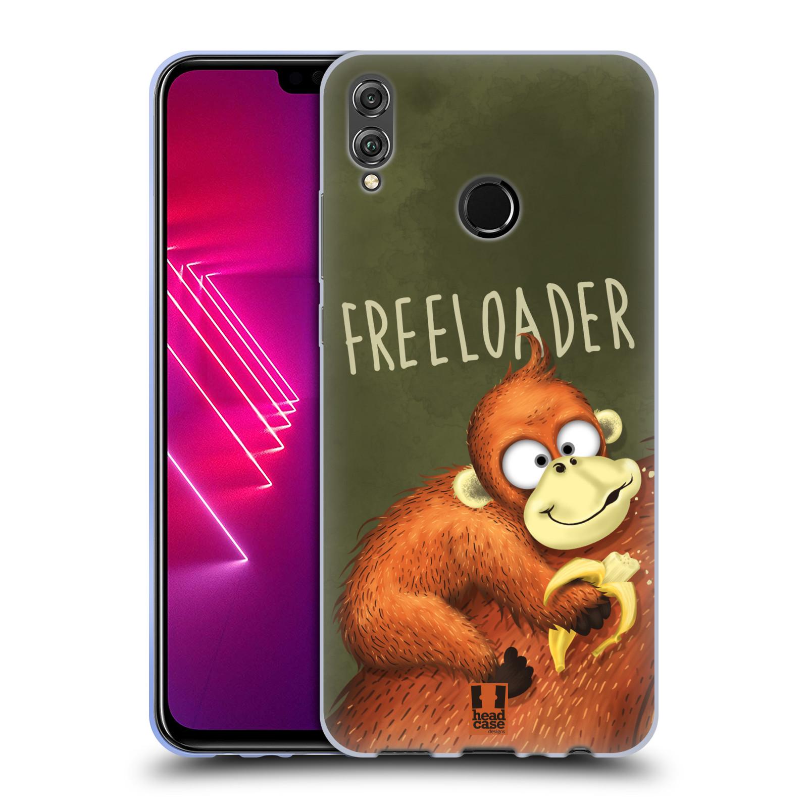 Silikonové pouzdro na mobil Honor View 10 Lite - Head Case - Opičák Freeloader
