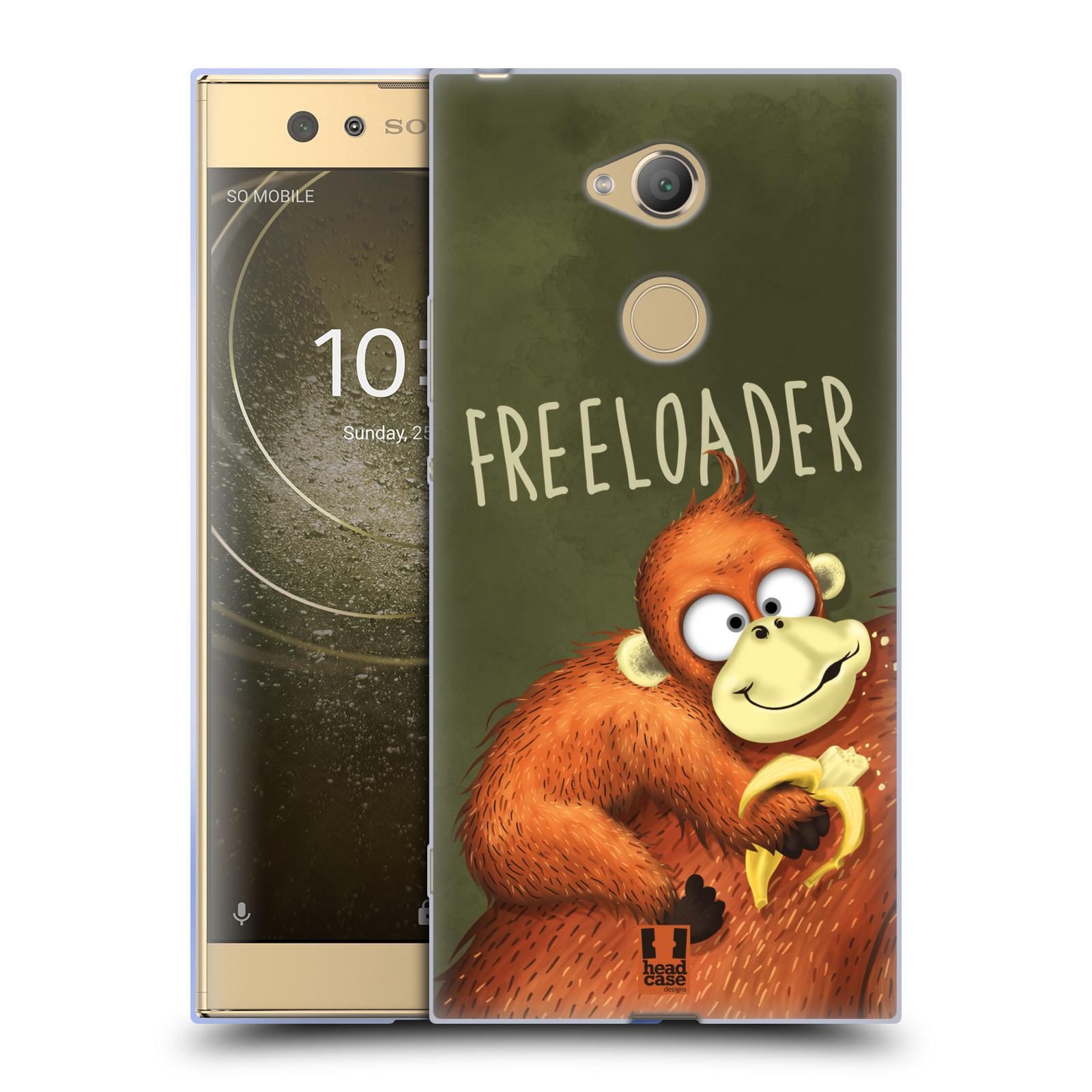 Silikonové pouzdro na mobil Sony Xperia XA2 Ultra - Head Case - Opičák Freeloader