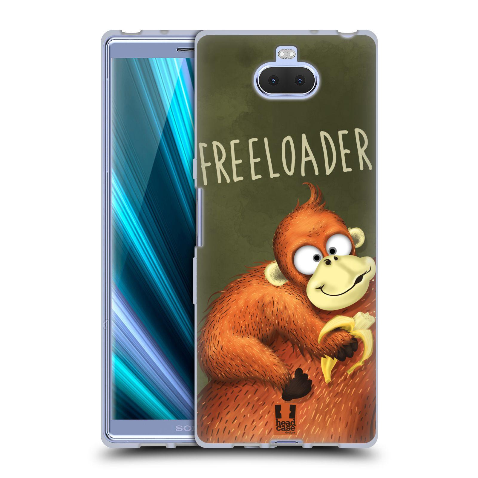 Silikonové pouzdro na mobil Sony Xperia 10 - Head Case - Opičák Freeloader