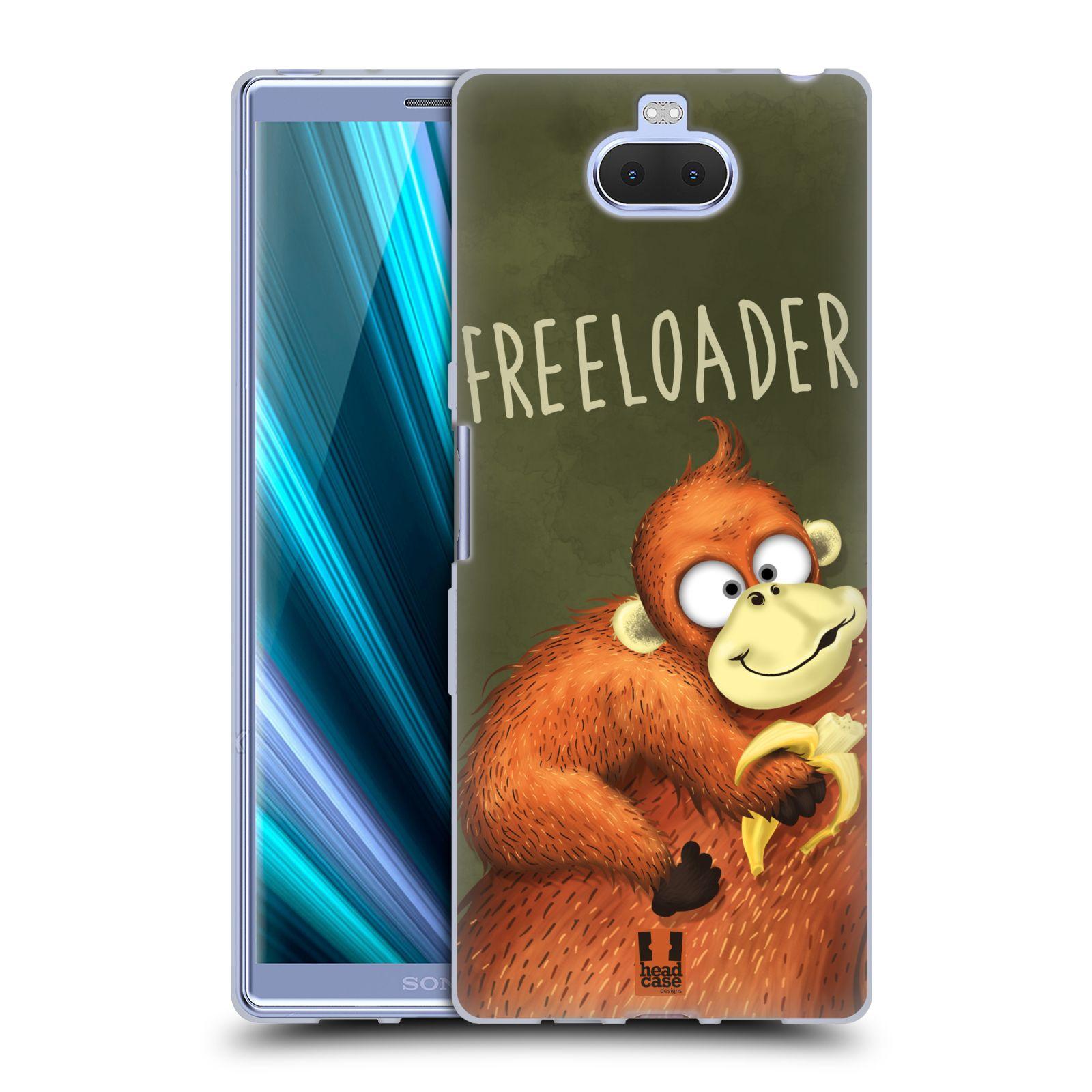 Silikonové pouzdro na mobil Sony Xperia 10 Plus - Head Case - Opičák Freeloader