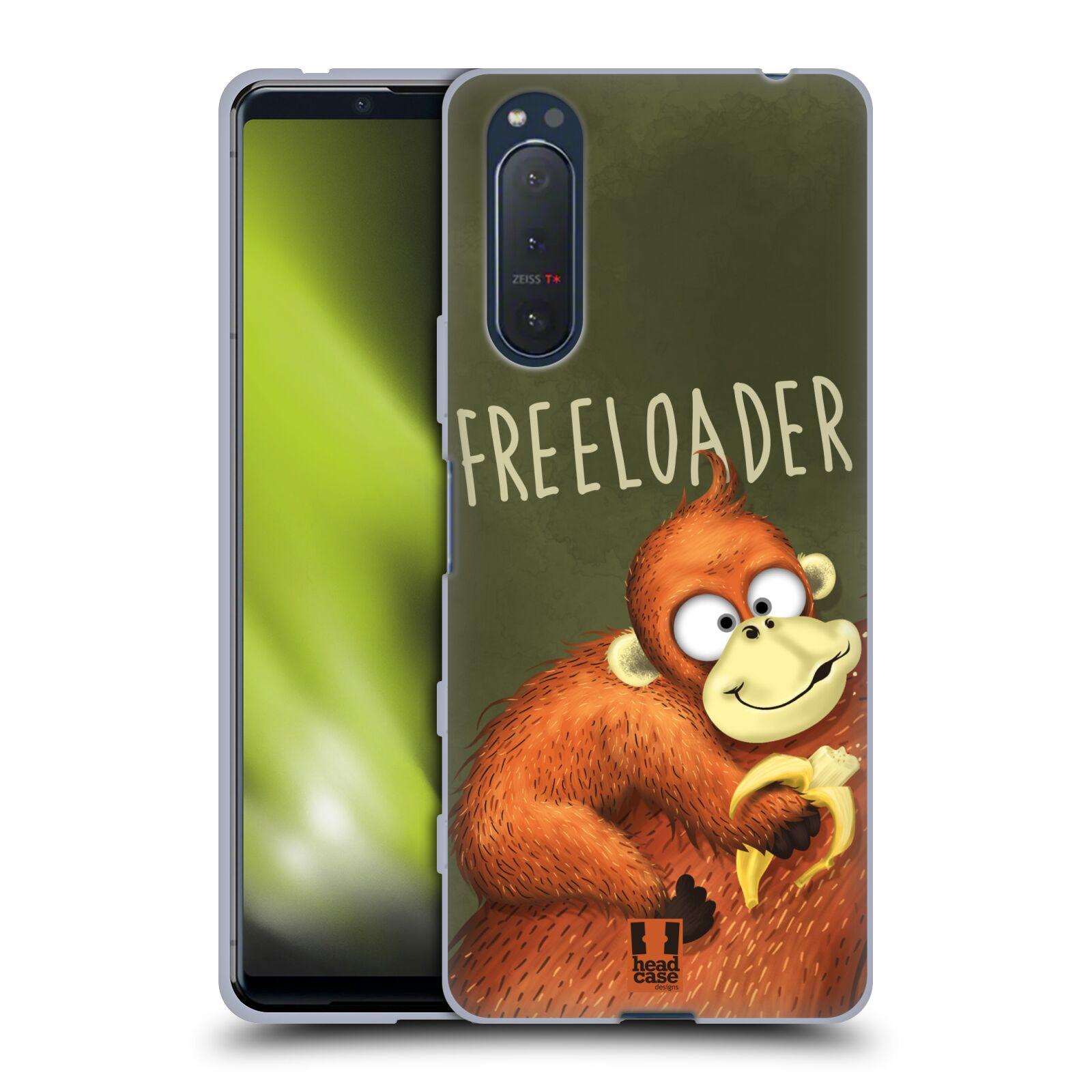 Silikonové pouzdro na mobil Sony Xperia 5 II - Head Case - Opičák Freeloader