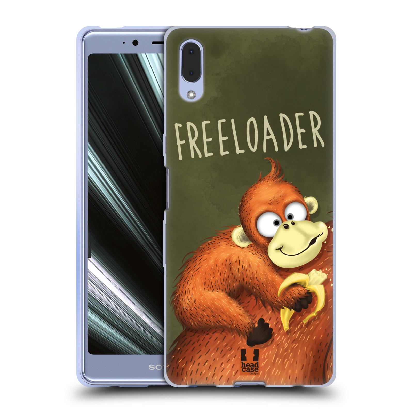Silikonové pouzdro na mobil Sony Xperia L3 - Head Case - Opičák Freeloader