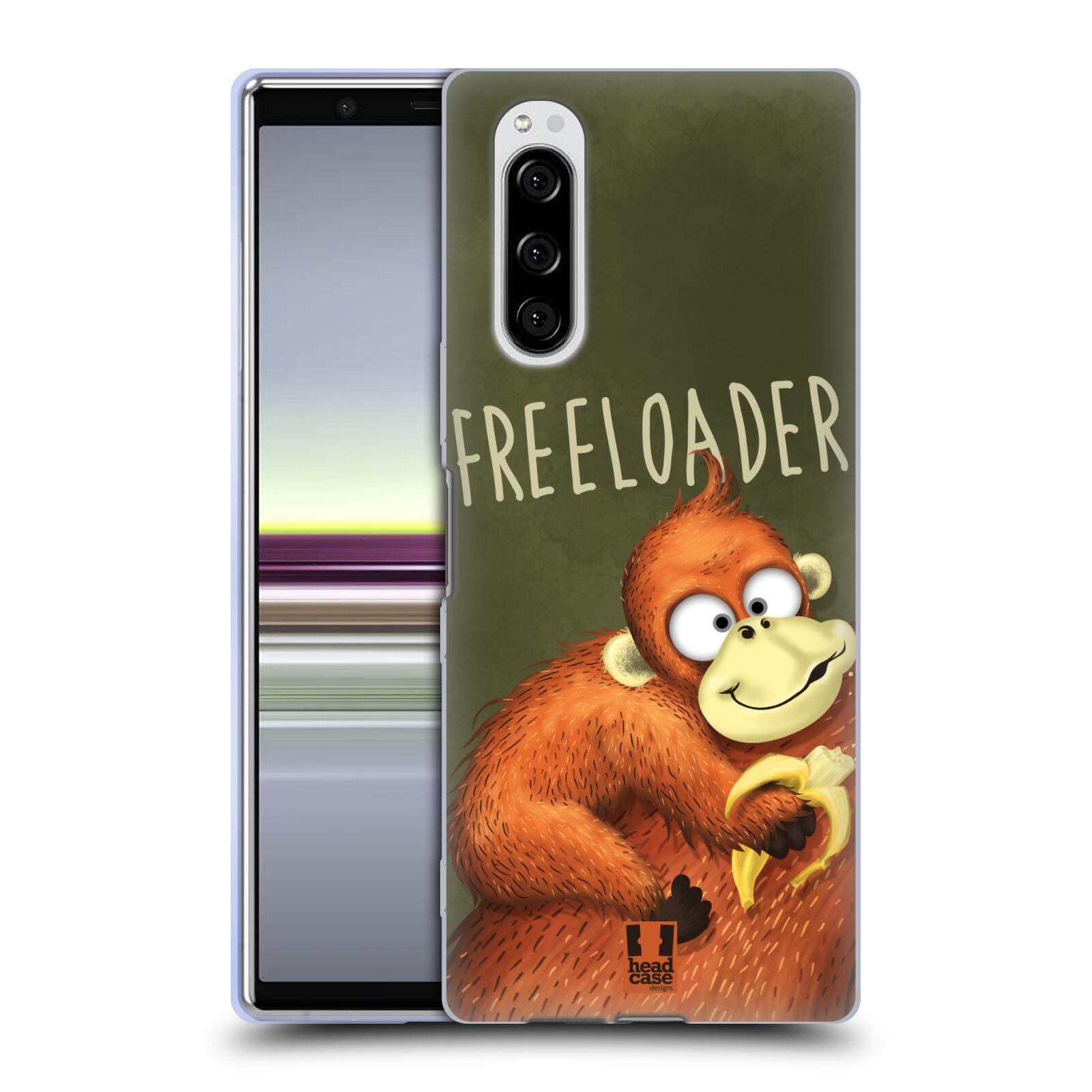 Silikonové pouzdro na mobil Sony Xperia 5 - Head Case - Opičák Freeloader