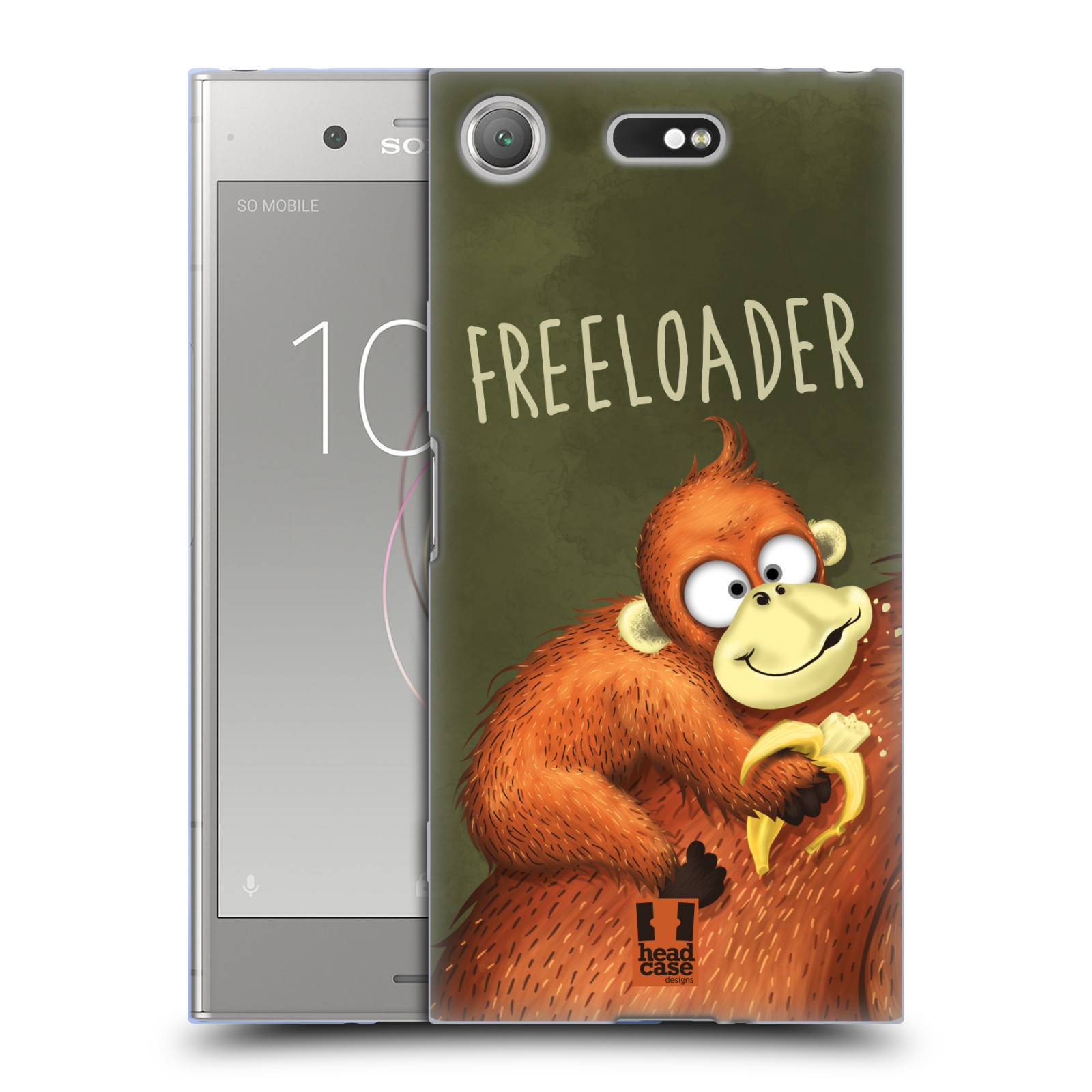 Silikonové pouzdro na mobil Sony Xperia XZ1 Compact - Head Case - Opičák Freeloader