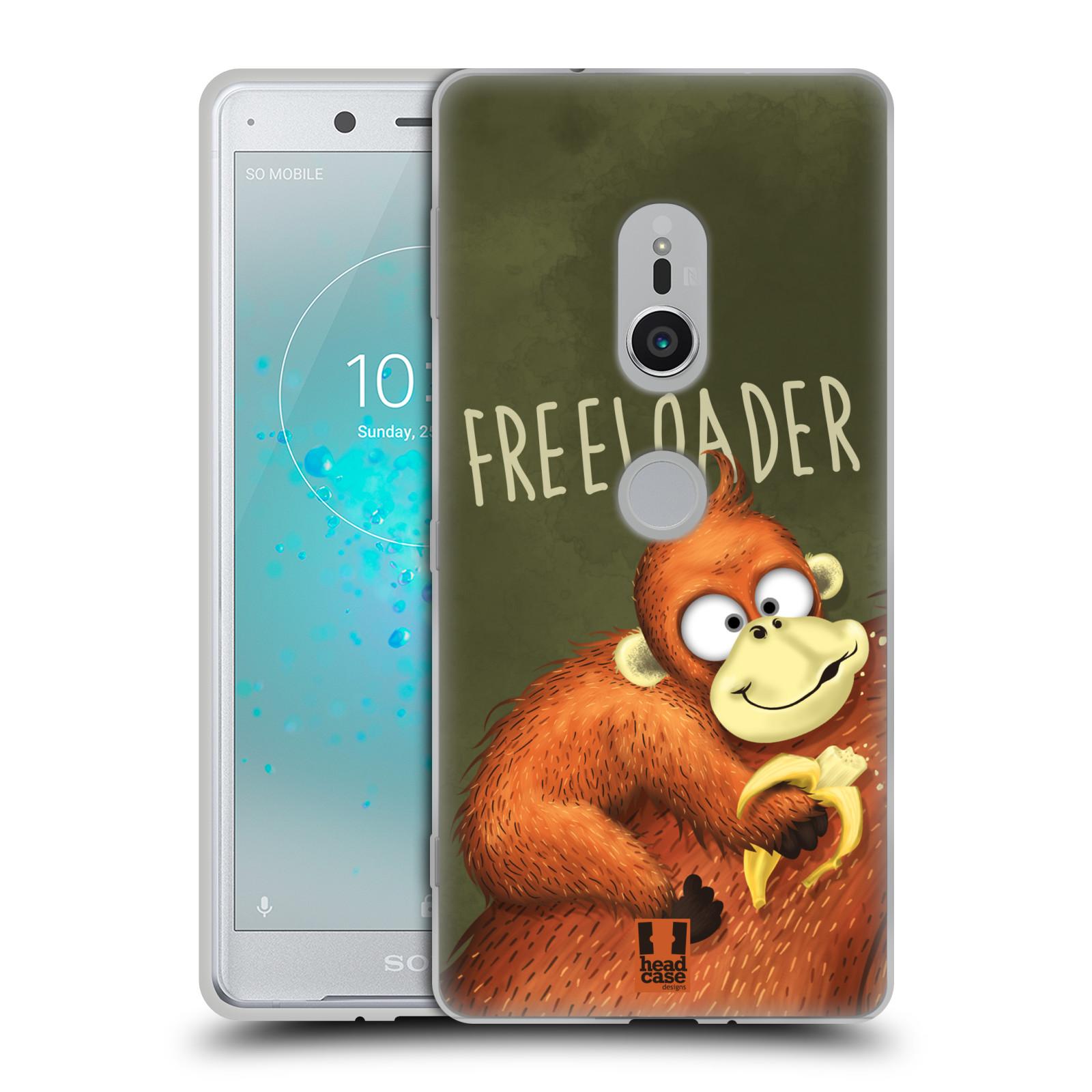 Silikonové pouzdro na mobil Sony Xperia XZ2 - Head Case - Opičák Freeloader