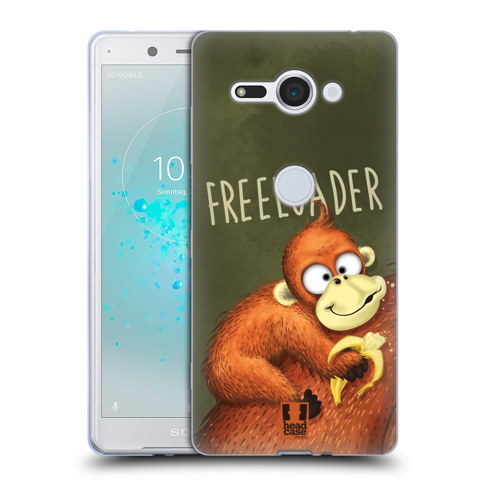Silikonové pouzdro na mobil Sony Xperia XZ2 Compact - Head Case - Opičák Freeloader