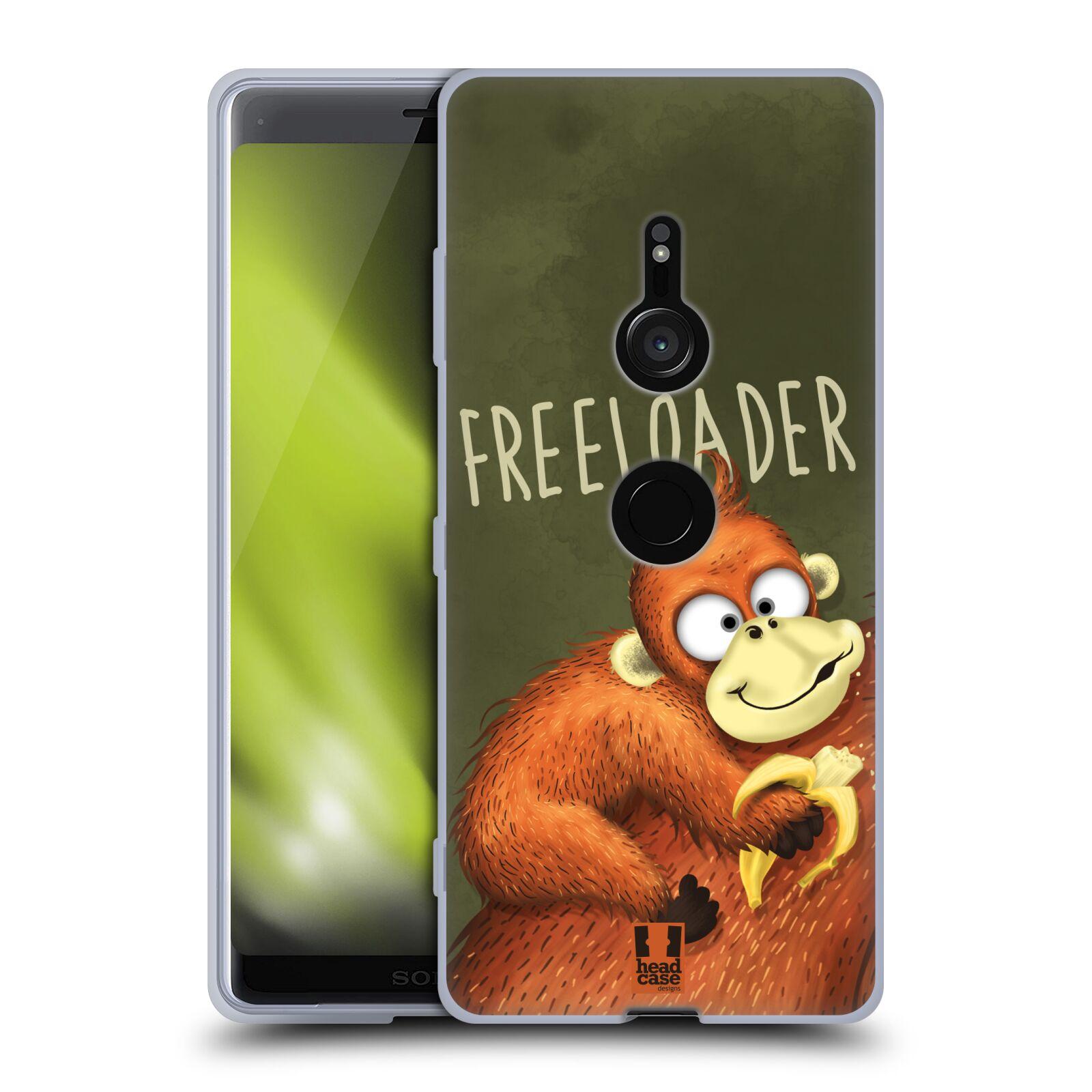 Silikonové pouzdro na mobil Sony Xperia XZ3 - Head Case - Opičák Freeloader