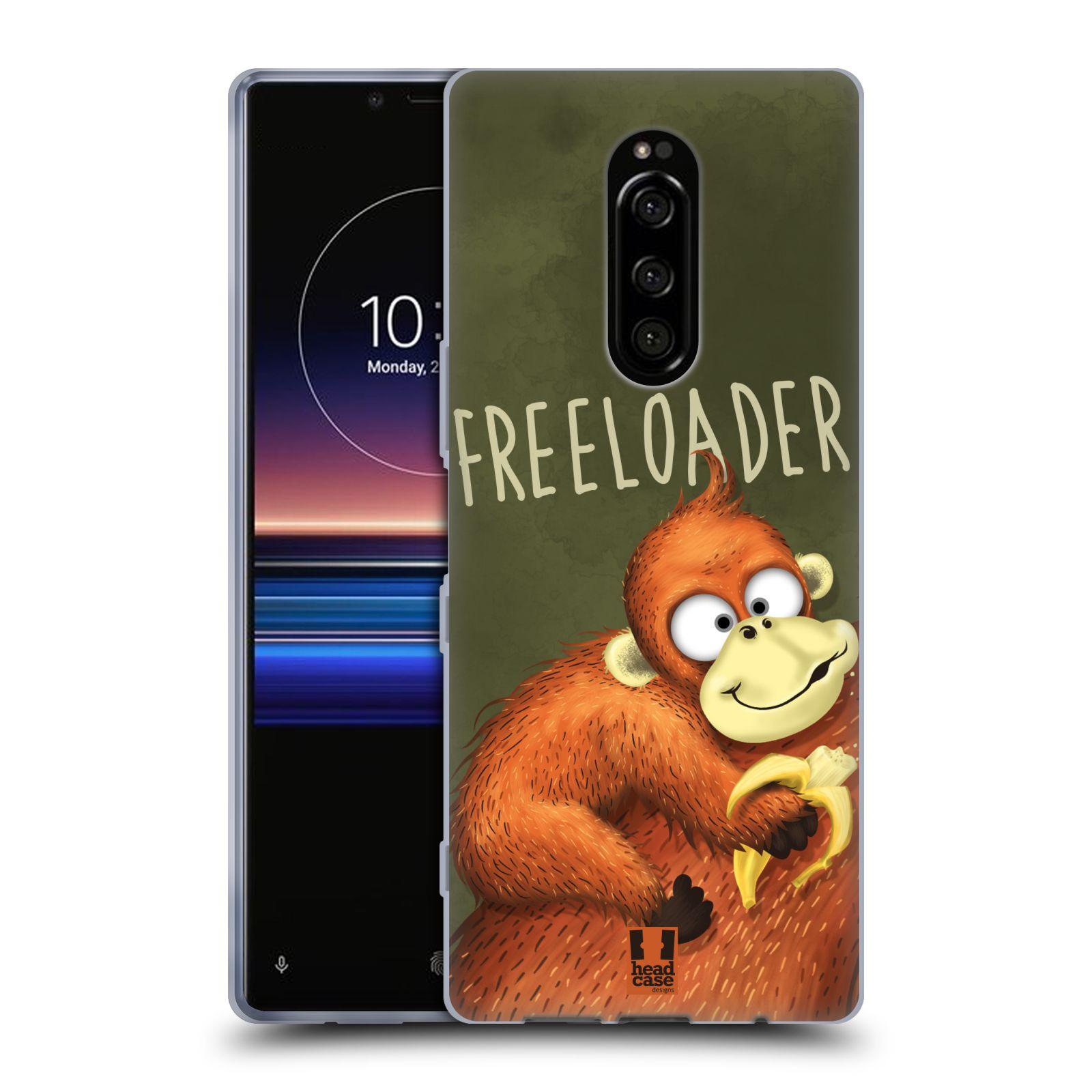 Silikonové pouzdro na mobil Sony Xperia 1 - Head Case - Opičák Freeloader