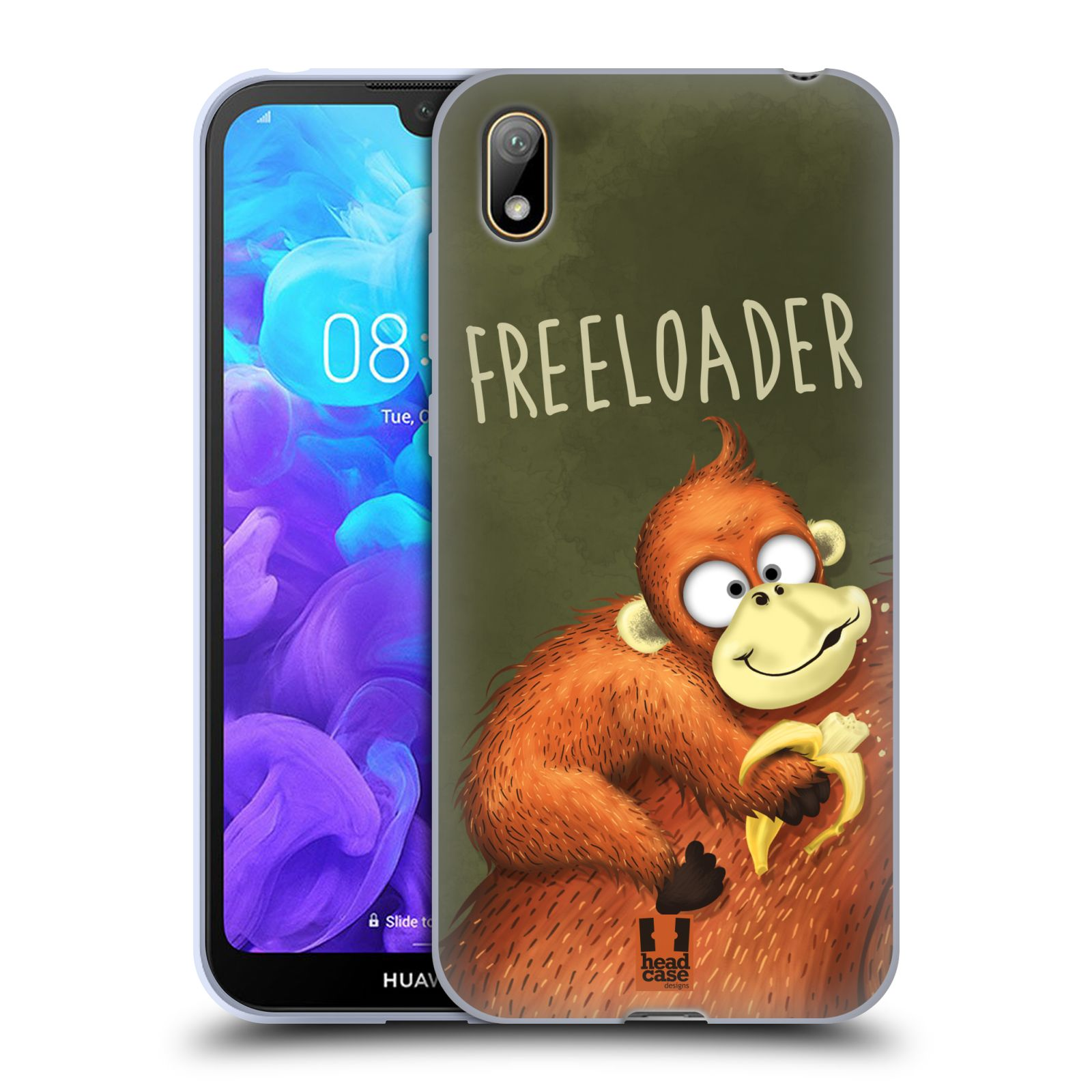 Silikonové pouzdro na mobil Huawei Y5 (2019) - Head Case - Opičák Freeloader