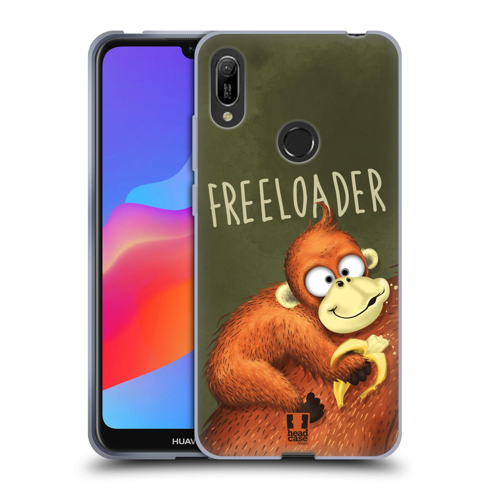Silikonové pouzdro na mobil Huawei Y6 (2019) - Head Case - Opičák Freeloader